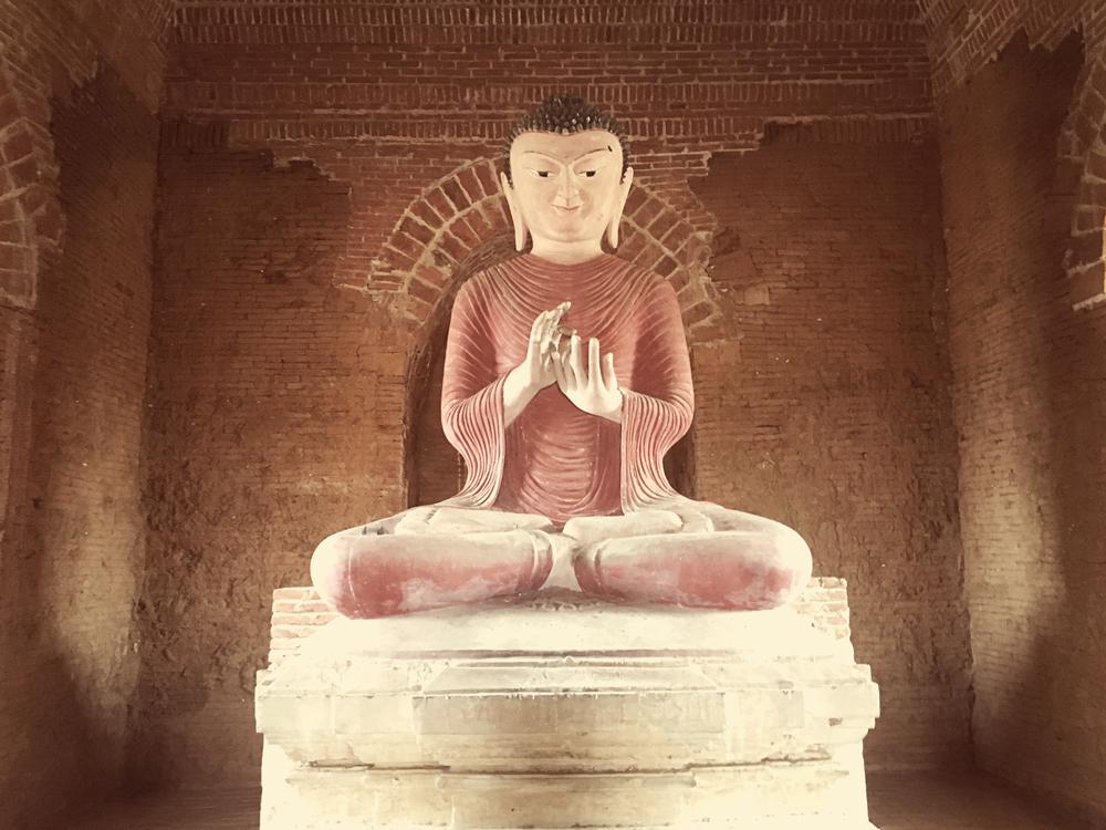 Many pagodas house Buddha statues