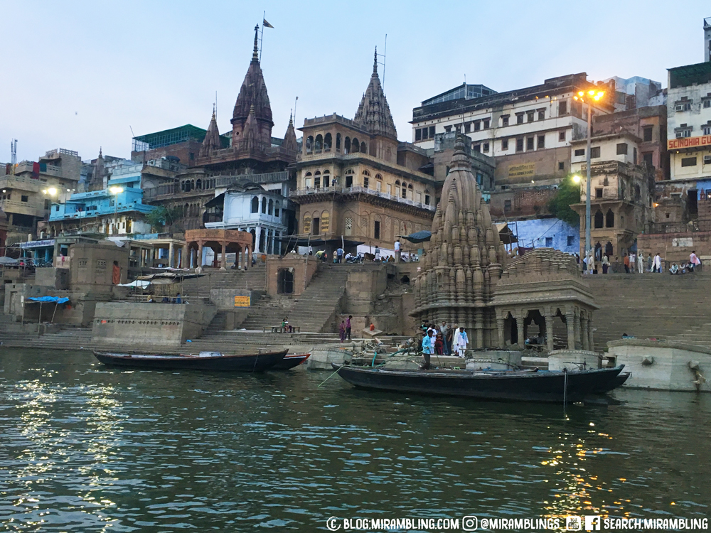 The banks of the Ganges in Varanasi