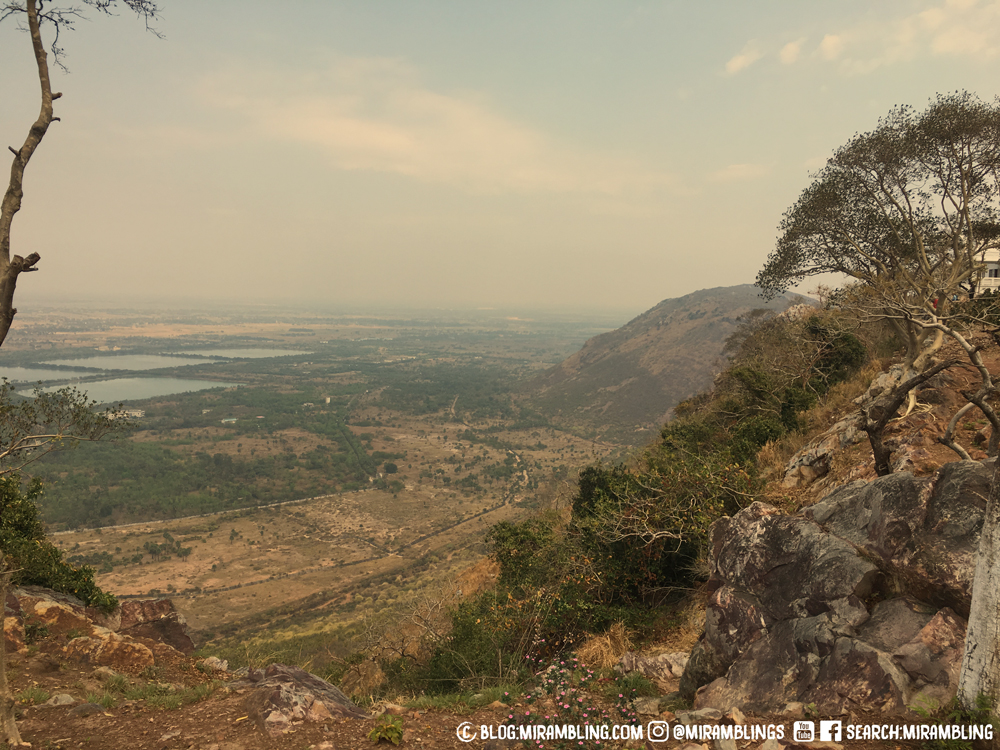 View from the top in Rajgir