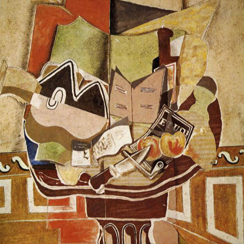 the round table  (1929) by georges braque
