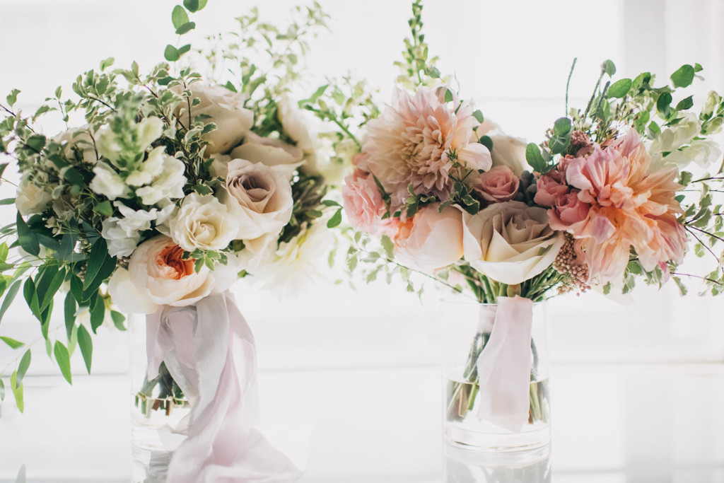 Gorgeous bouquets and boutonnieres designed by  Hoot & Holler.
