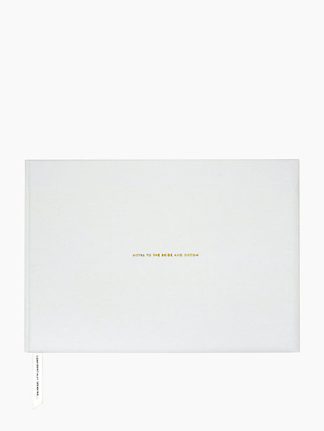 This  Kate Spade  guest book offers the best of both worlds. Lined pages for guests to sign their name, and these adorable pages of small envelopes for guests to pen a piece of marriage advice and tuck them inside tiny (gold foiled!) envelopes for you and your new husband to pull out in your post-wedding couch nights.