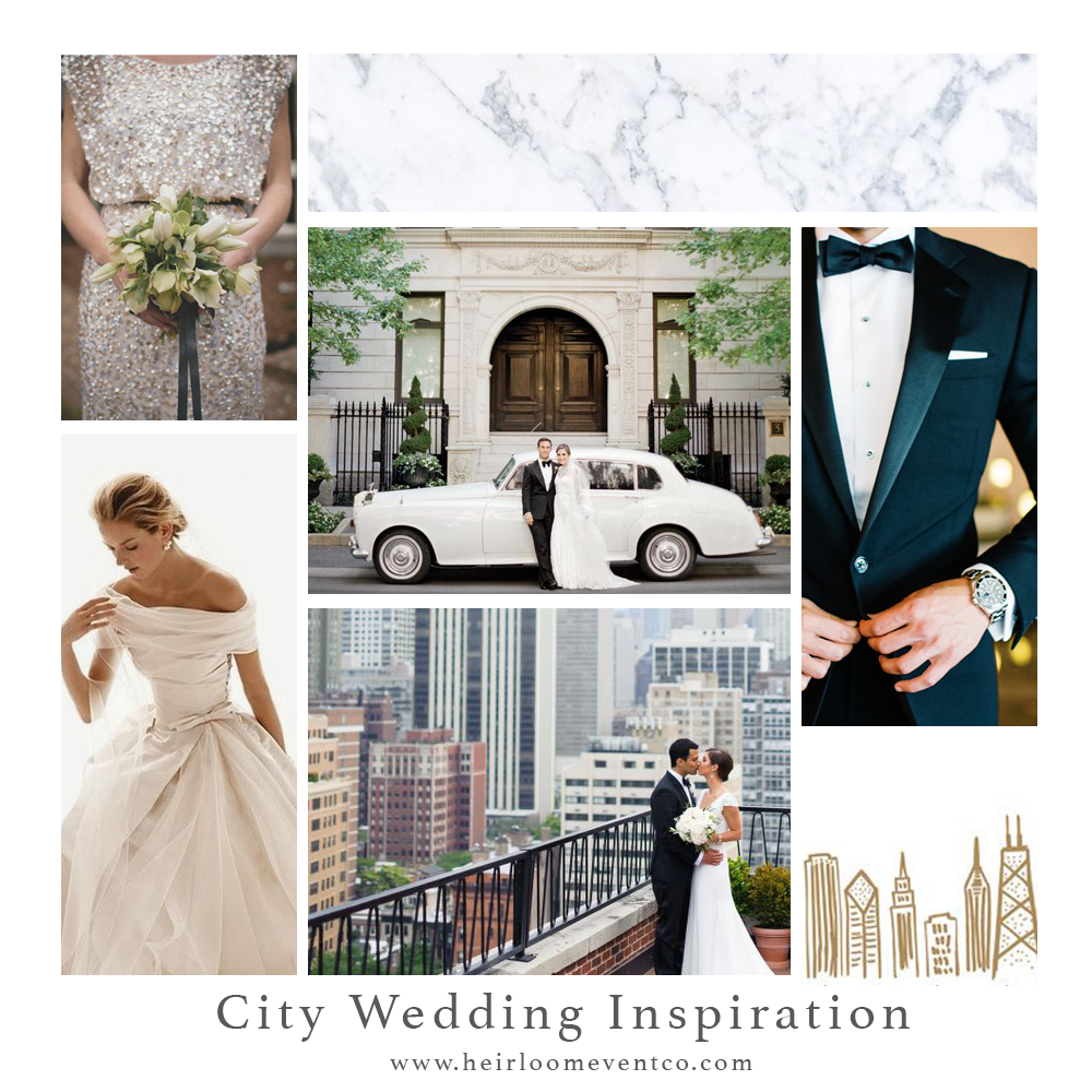 City Wedding Inspiration // Heirloom Event Co.