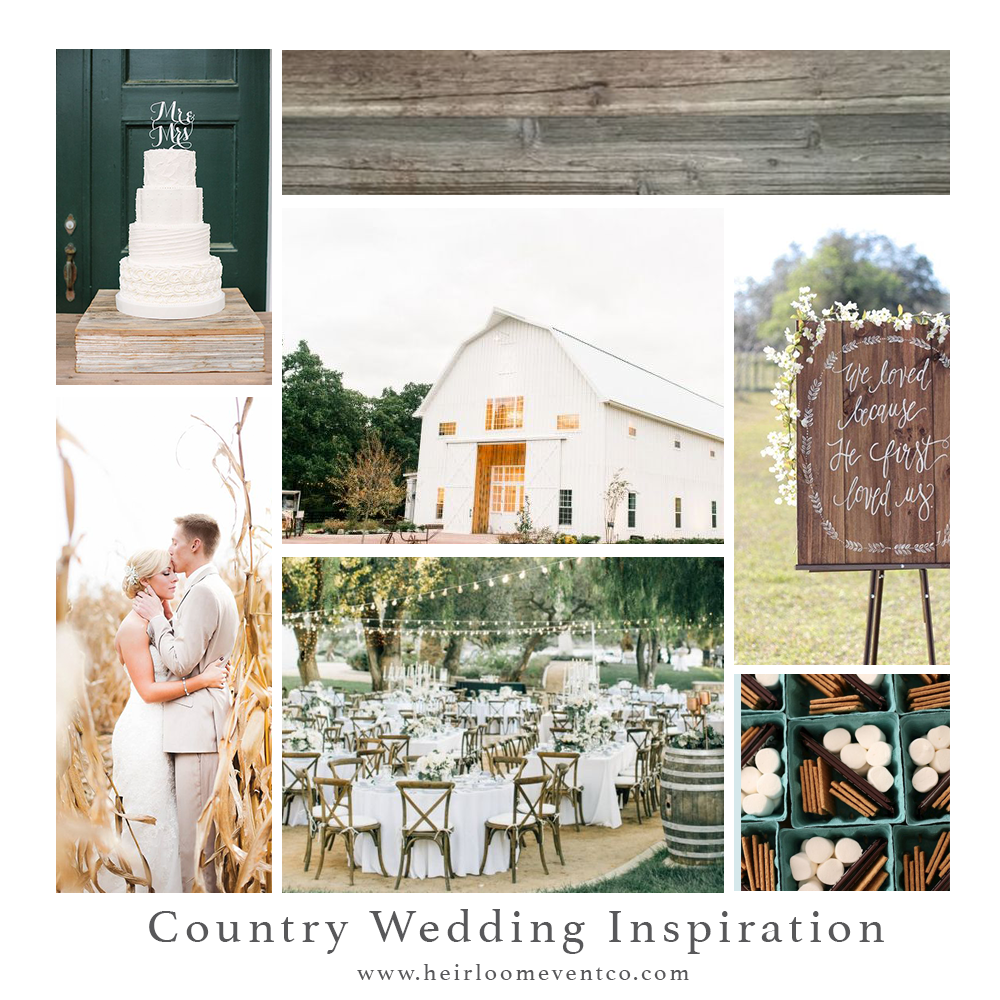 Country Wedding Inspiration // Heirloom Event Co.