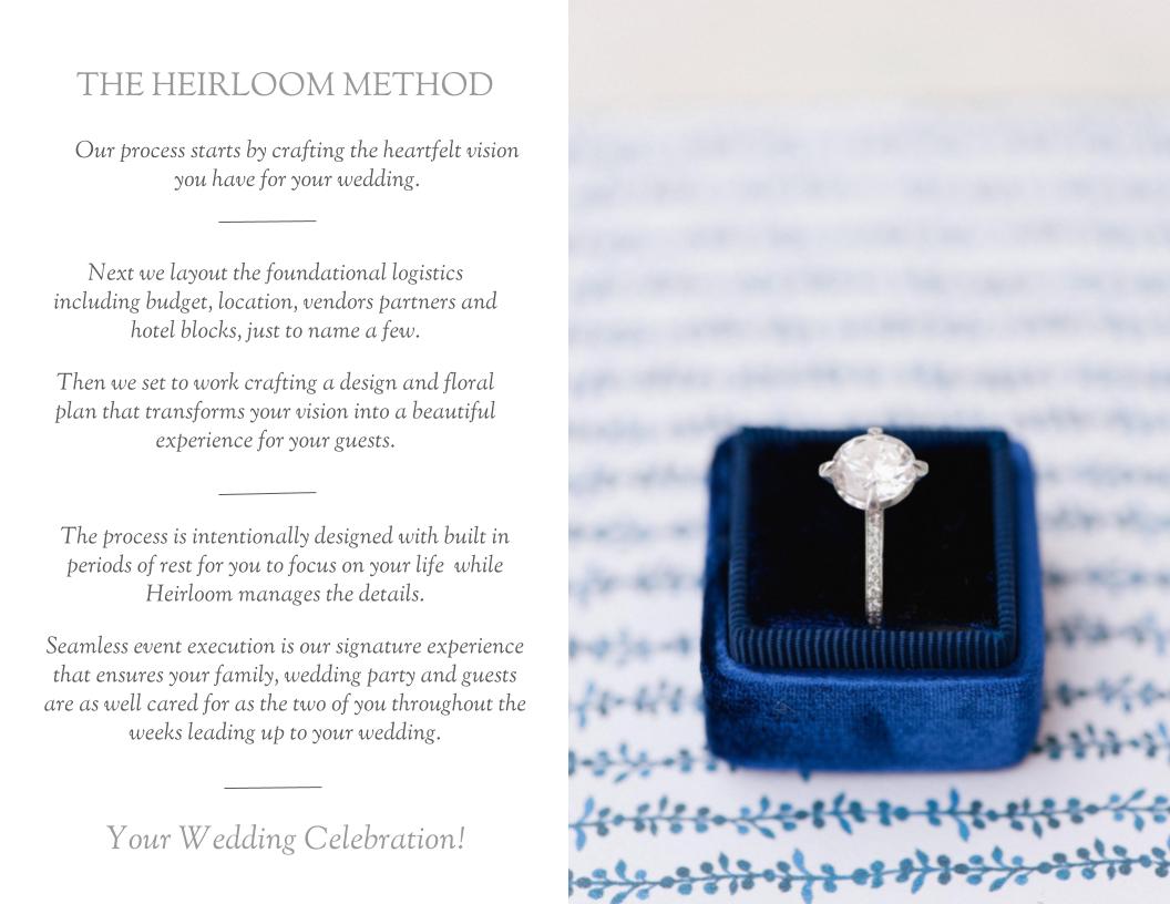 The Heirloom Method | Heirloom Event Co.