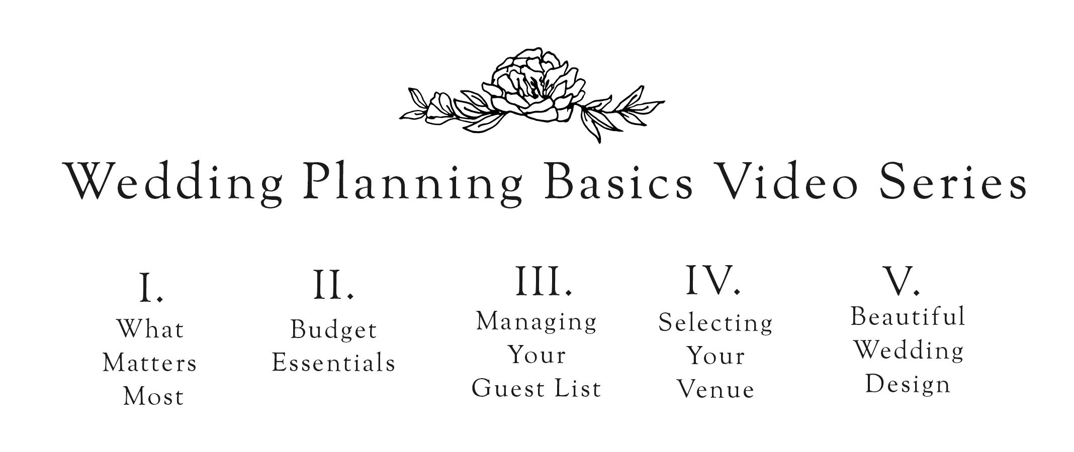 Heirloom Event Co. | Wedding Planning Basics Video Series