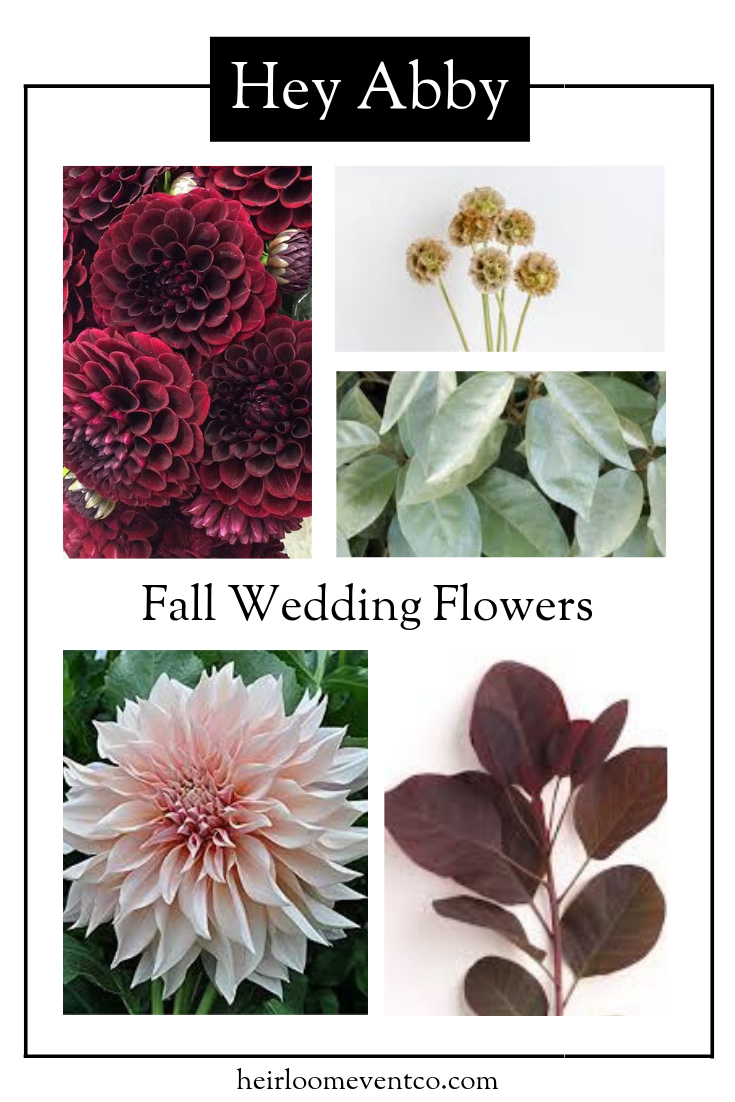 Fall Wedding Flower Roundup | Heirloom Event Co.