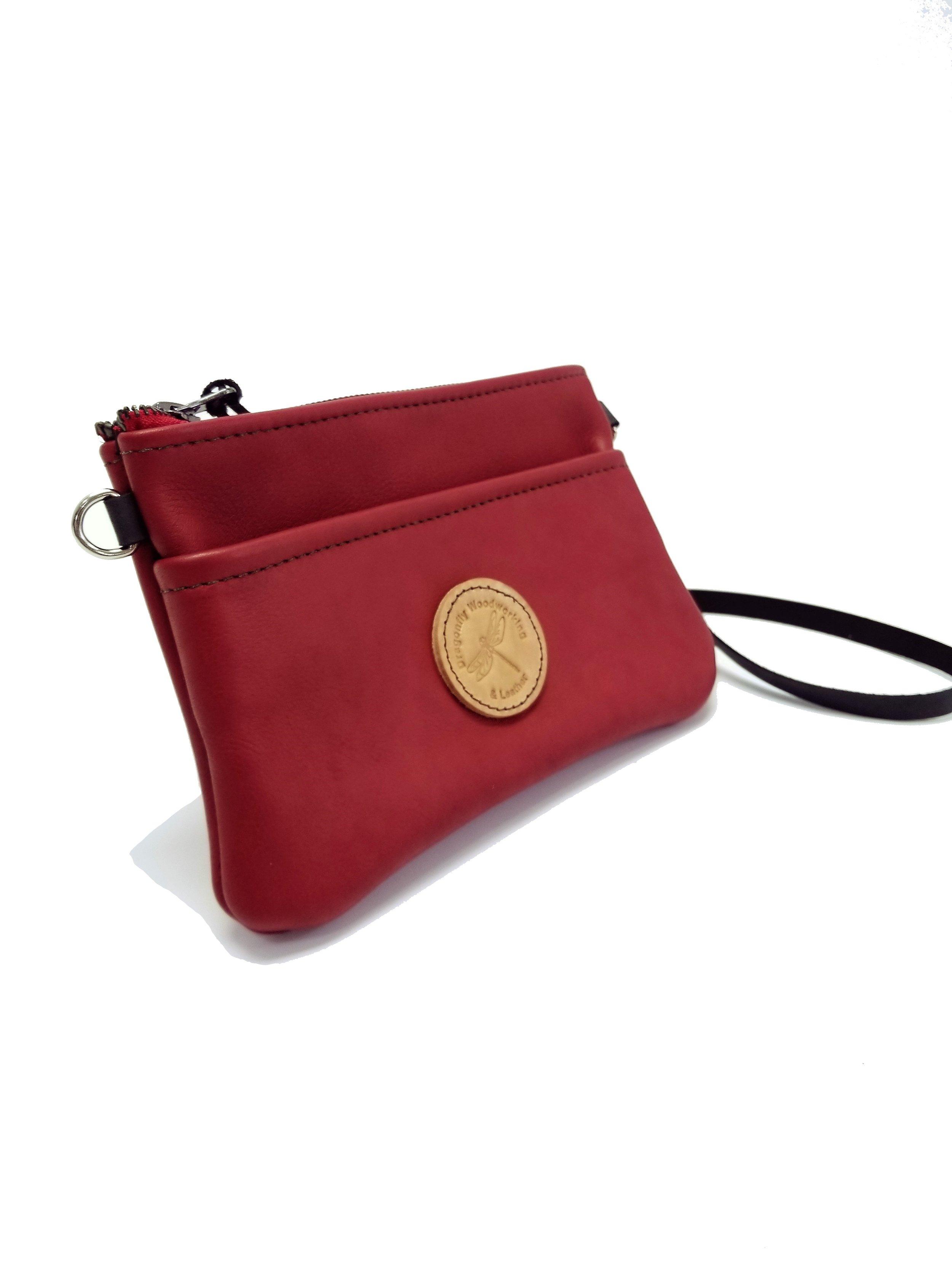 Leather clutch - leather purse - Tina Marie Clutch