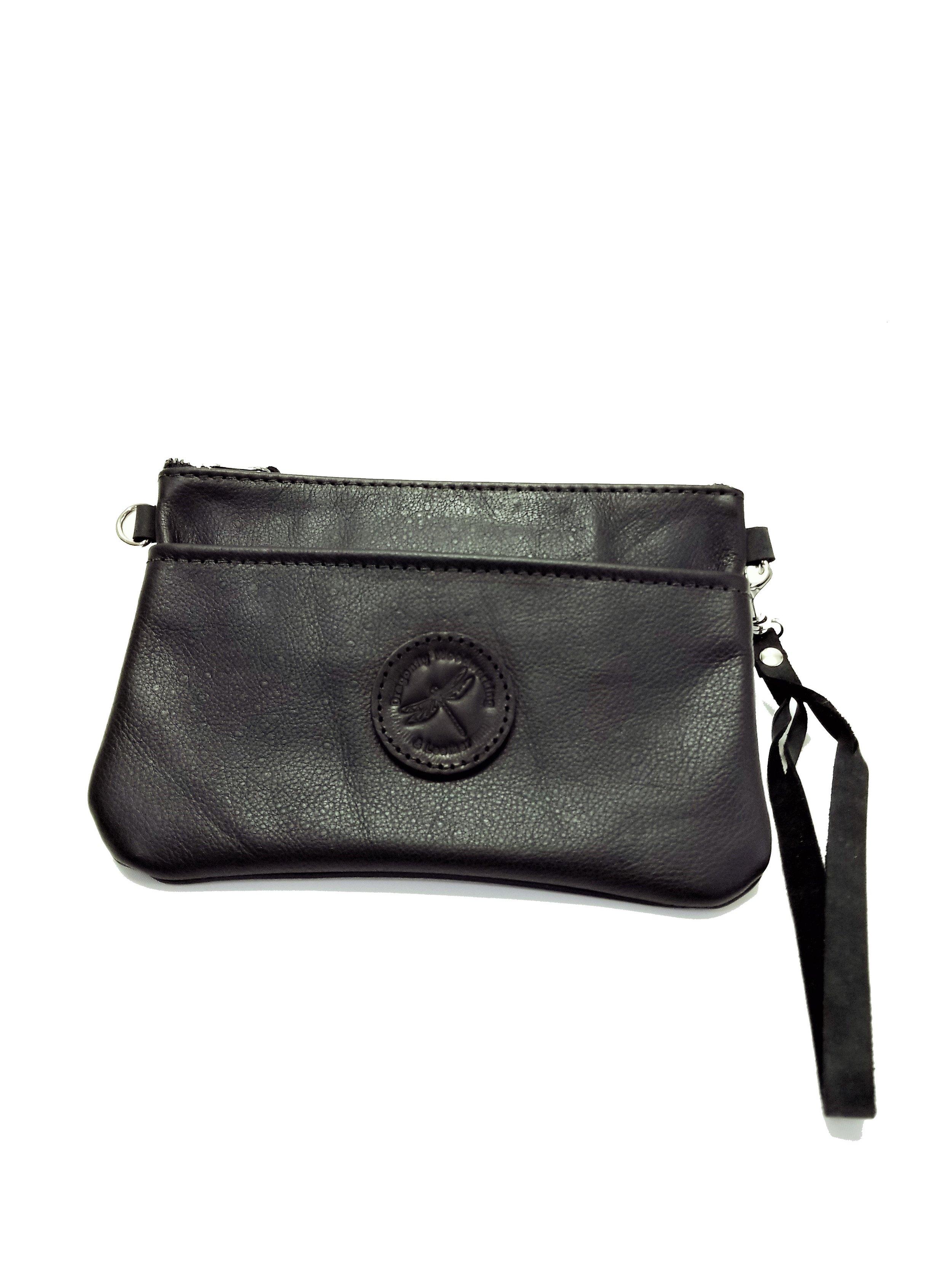 Black Leather Purse / Clutch