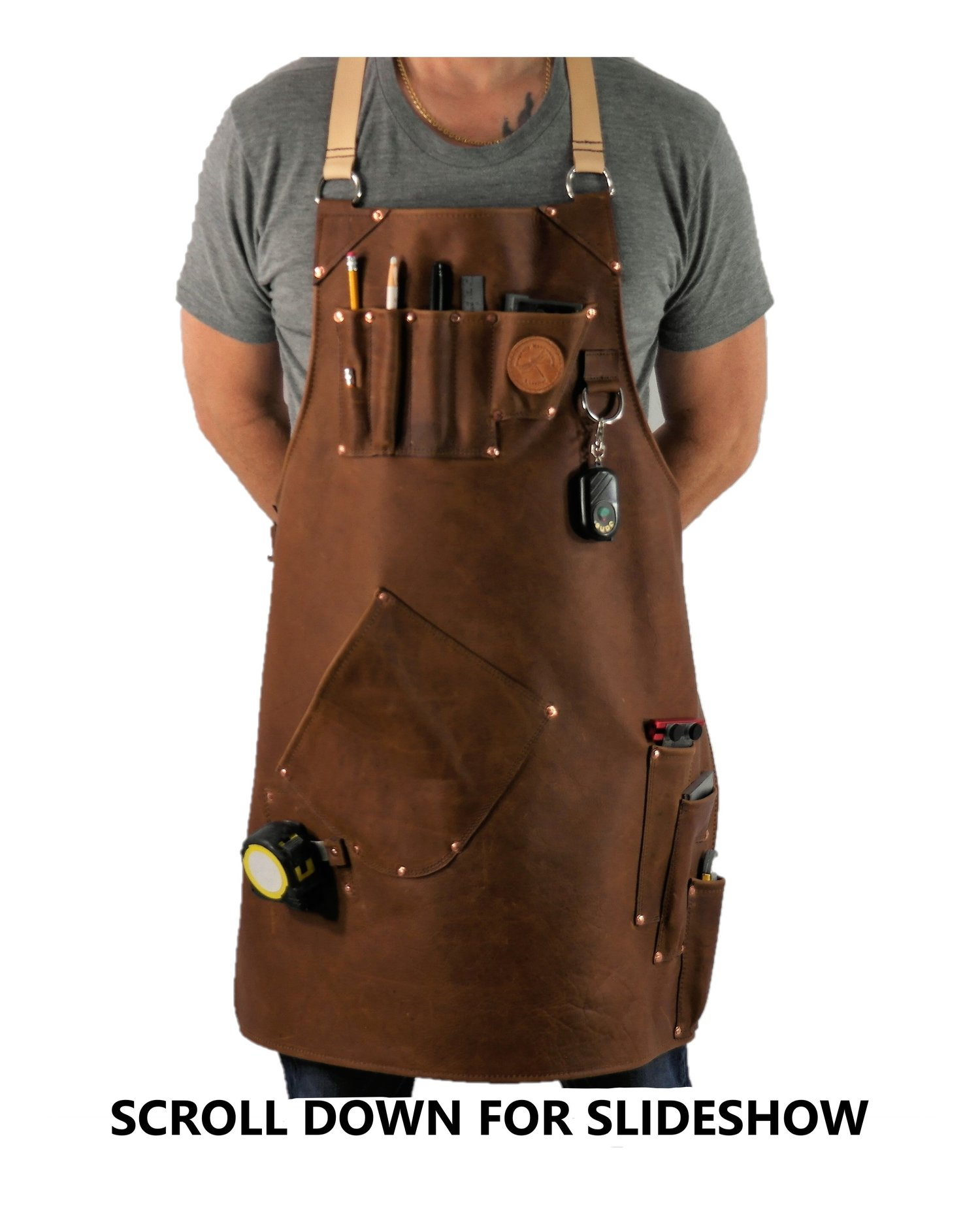 Leather By Dragonfly Leather Shop Apron Leather Workplace Apron Custom Leather Apron