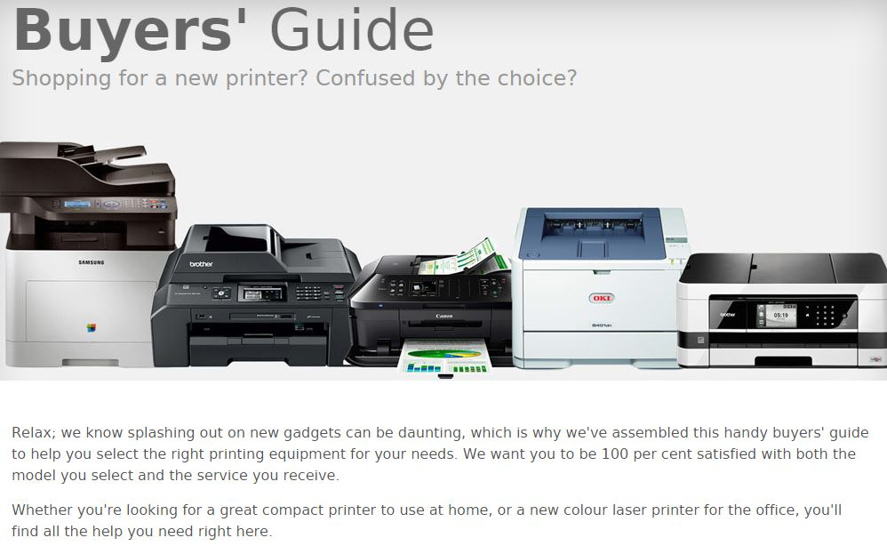 Printernet.co.uk, Buyers' Guide - simply click on the image to read the full guide.