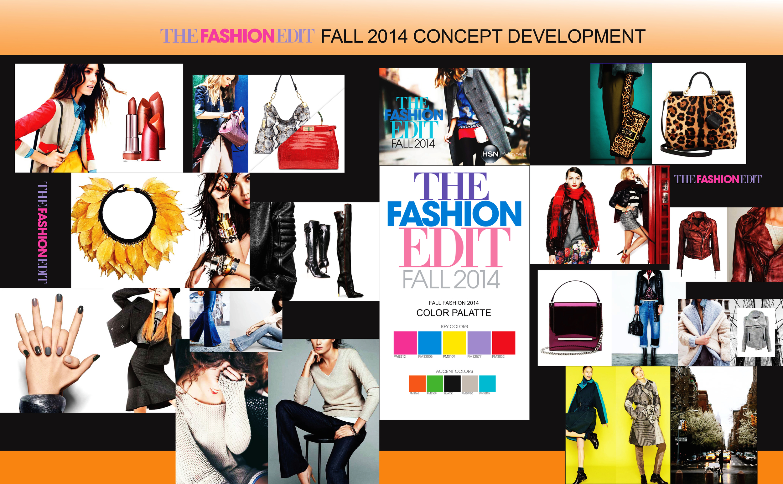 Drove The Fashion Edit Fall 2014.  Concept the  campaign from the collaboration with Copy,  Photography, Merchants, Social Content, Network, Motion, Digital and Marketing down to the details of styling to background colors to message and more.
