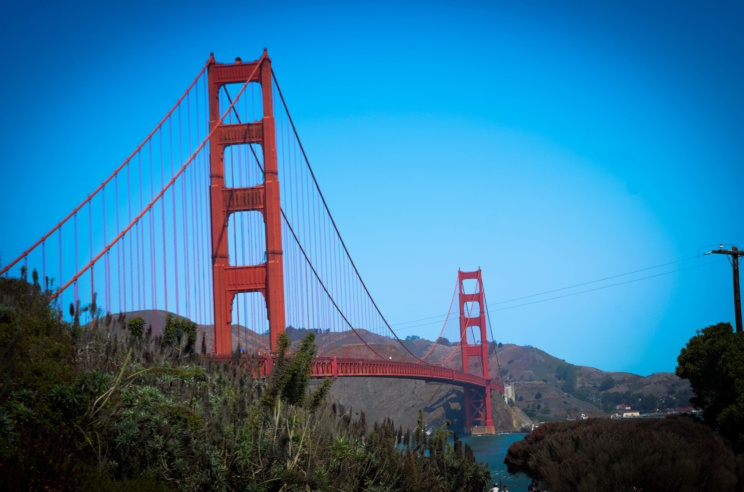 Our last stop was San Francisco, so it was only natural that we checked out the Golden Gate Bridge.