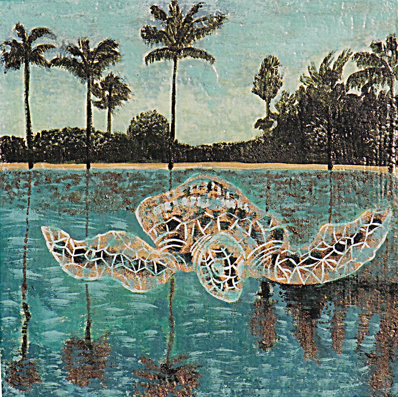 Tortuga in Lake Florida by Eliza M Schmid