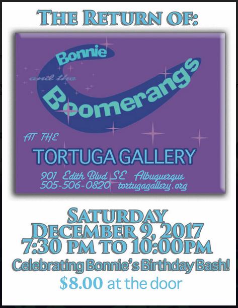 Bonnie & the Boomerangs - Saturday December 9 at 7:30pm $8.