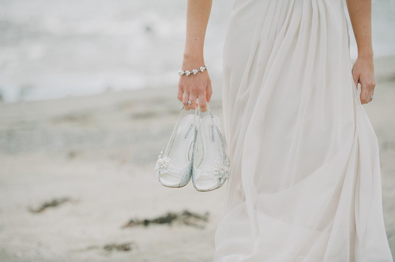 wedding shoes beach