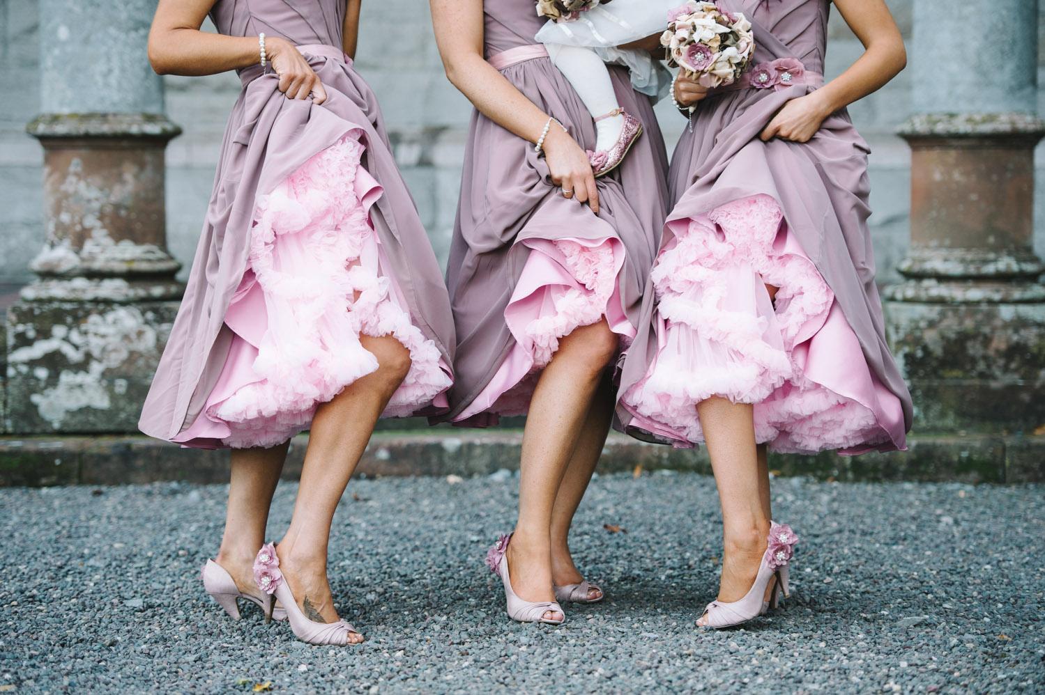 pink petticoats bridesmaid dresses