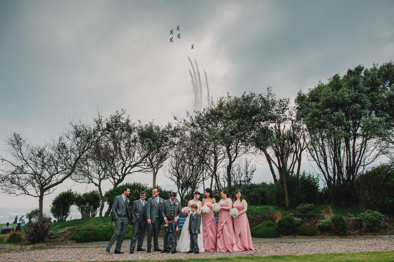 wedding air show