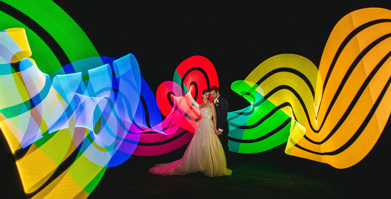 Pixelstick wedding Photos
