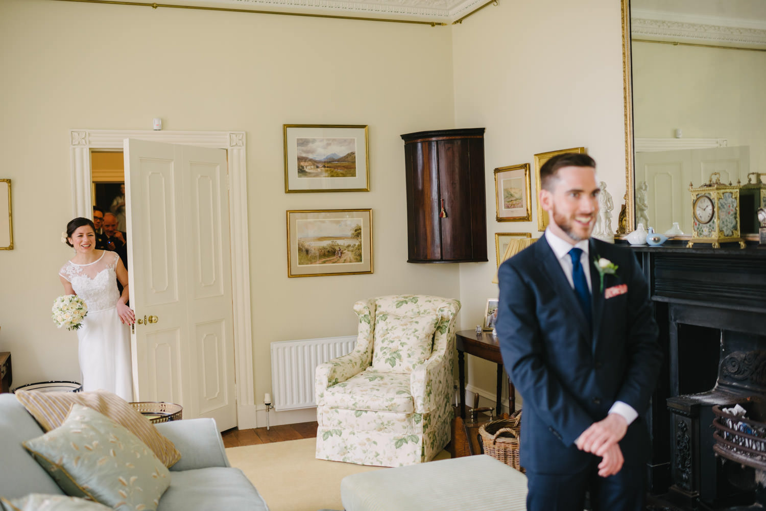 Tullyveery House Wedding first look