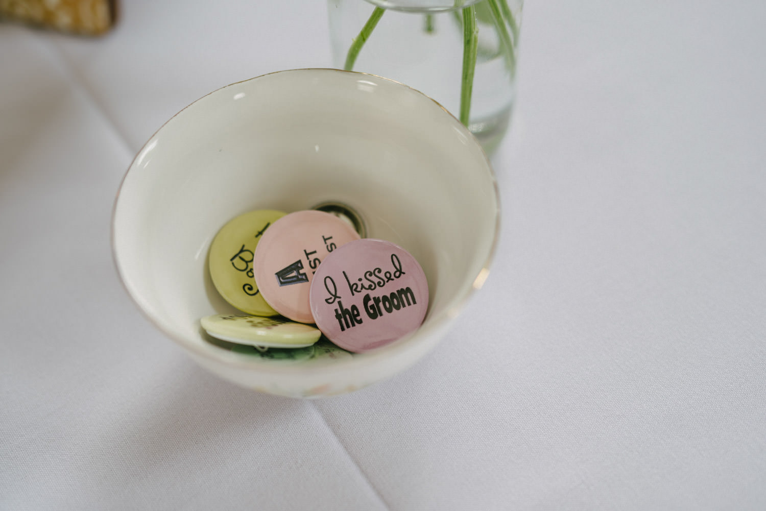 Funny wedding badges for guests