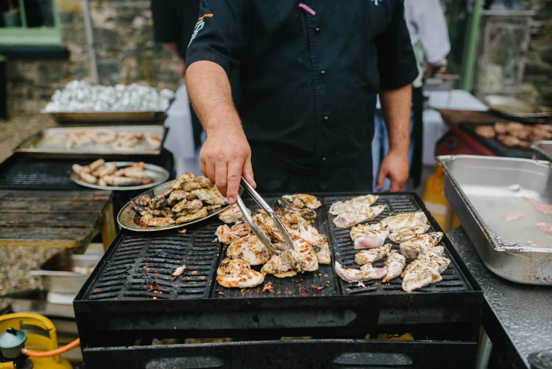 Wedding Barbecue BBQ at Orange Tree house Northern Ireland.