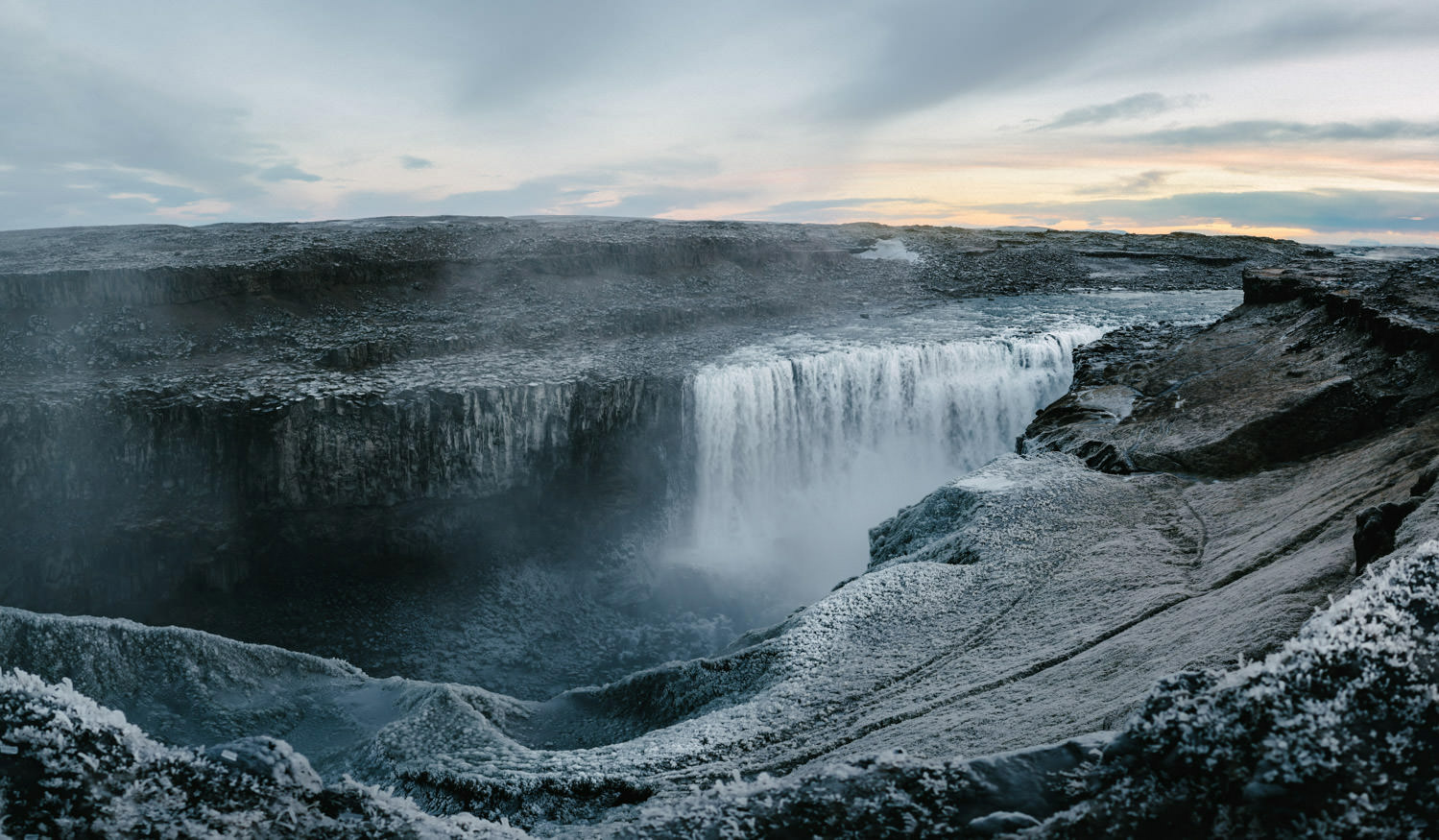 Dettifoss waterfall in Iceland - Location for Prometheus movie.