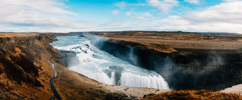 Gullfoss waterfall in Iceland.