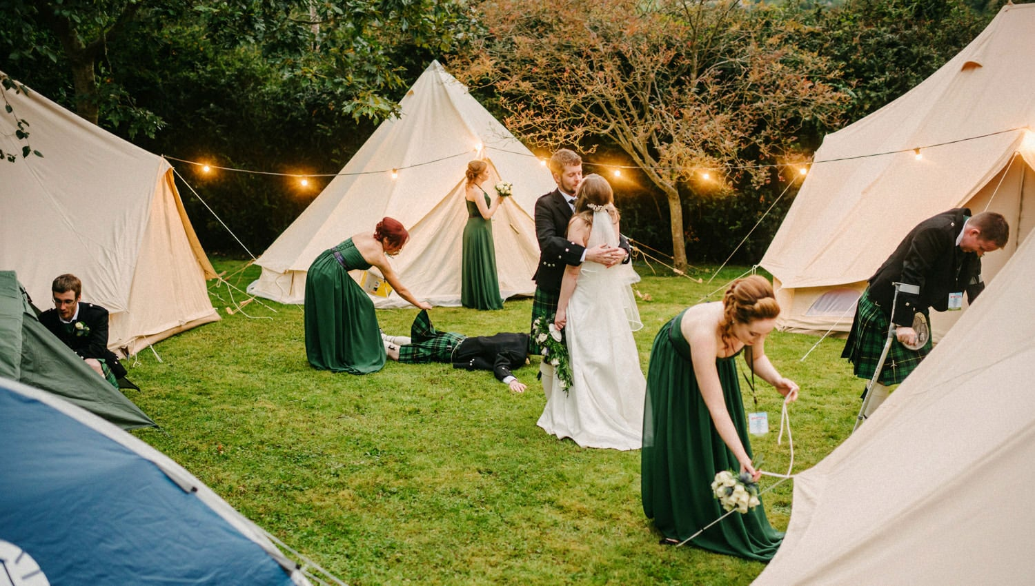 Music Festival style wedding tents