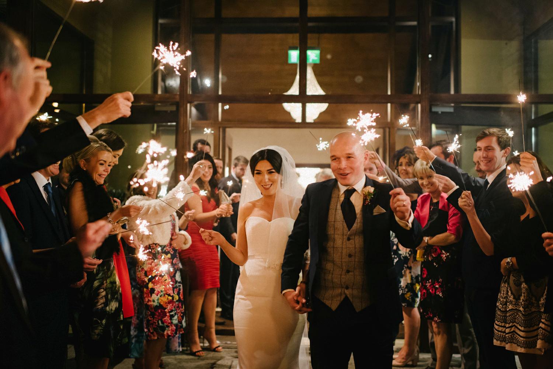 Wedding Sparkler shot