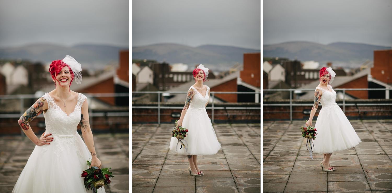 Hudson Bar and Mac Belfast Wedding Photos. Carrie Davenport and Dee McAdams. Oh Yeah Belfast. Belfast wedding photographers. Alternative wedding. NYE wedding. New Year's Eve wedding