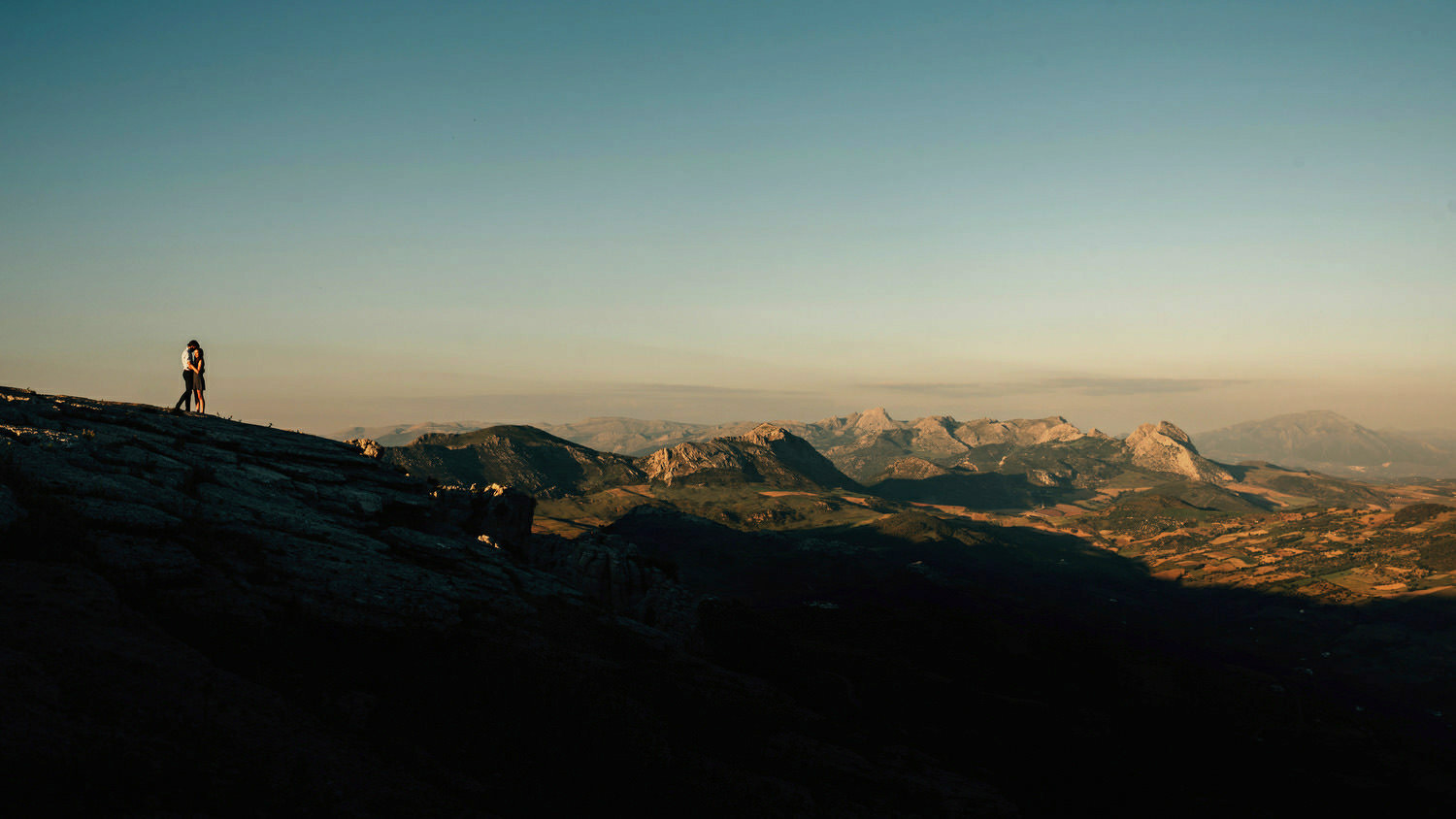 At the peak of the Torcal Mountains in Southern Spain.