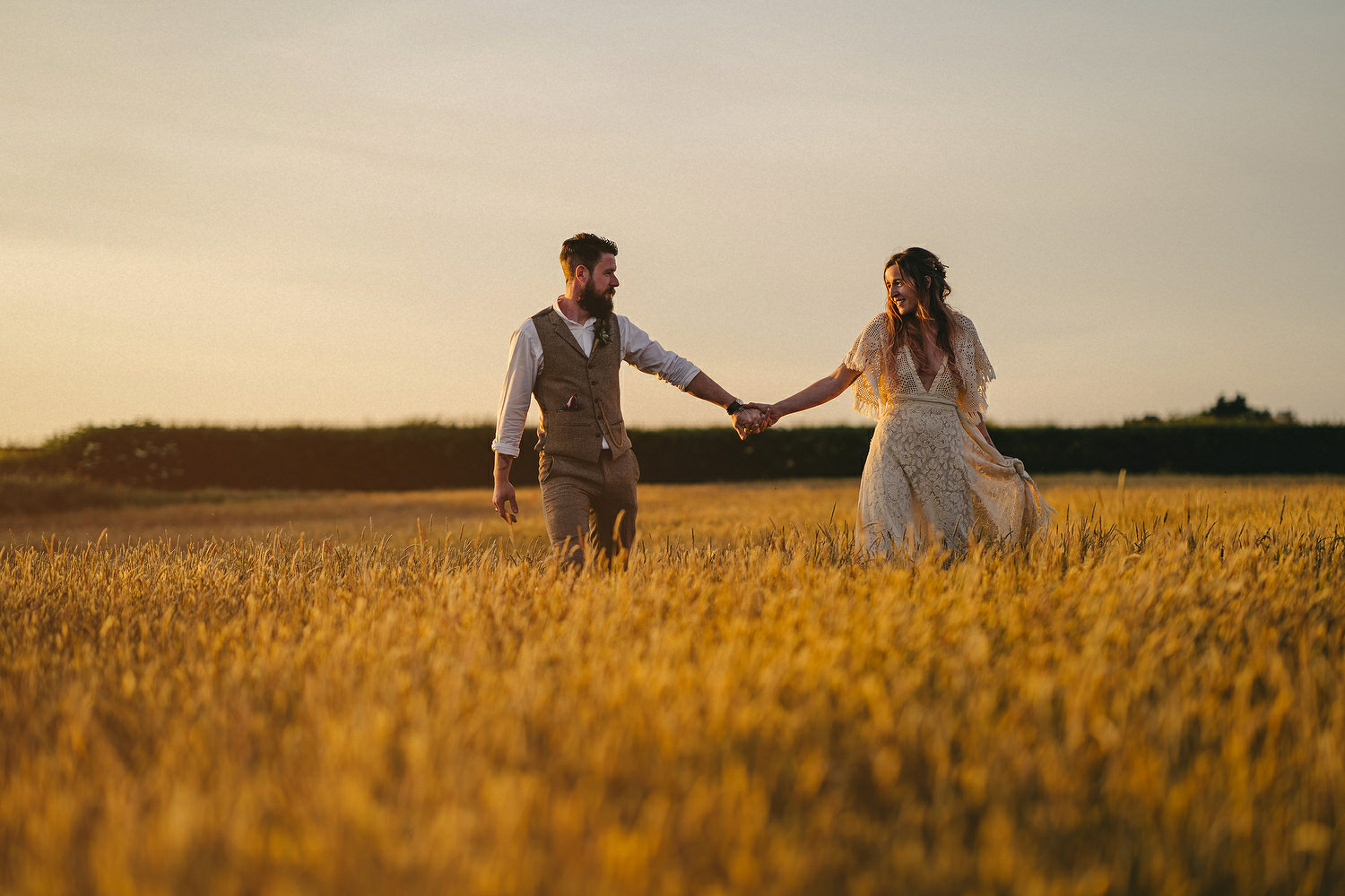 Field of Dreams Bangor Wedding Photos. Sunset wedding pictures. Sony A7III wedding.