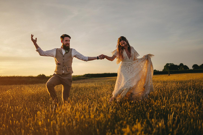 Field of Dreams Bangor Wedding Photos. Sunset wedding pictures. Sony A7III wedding.