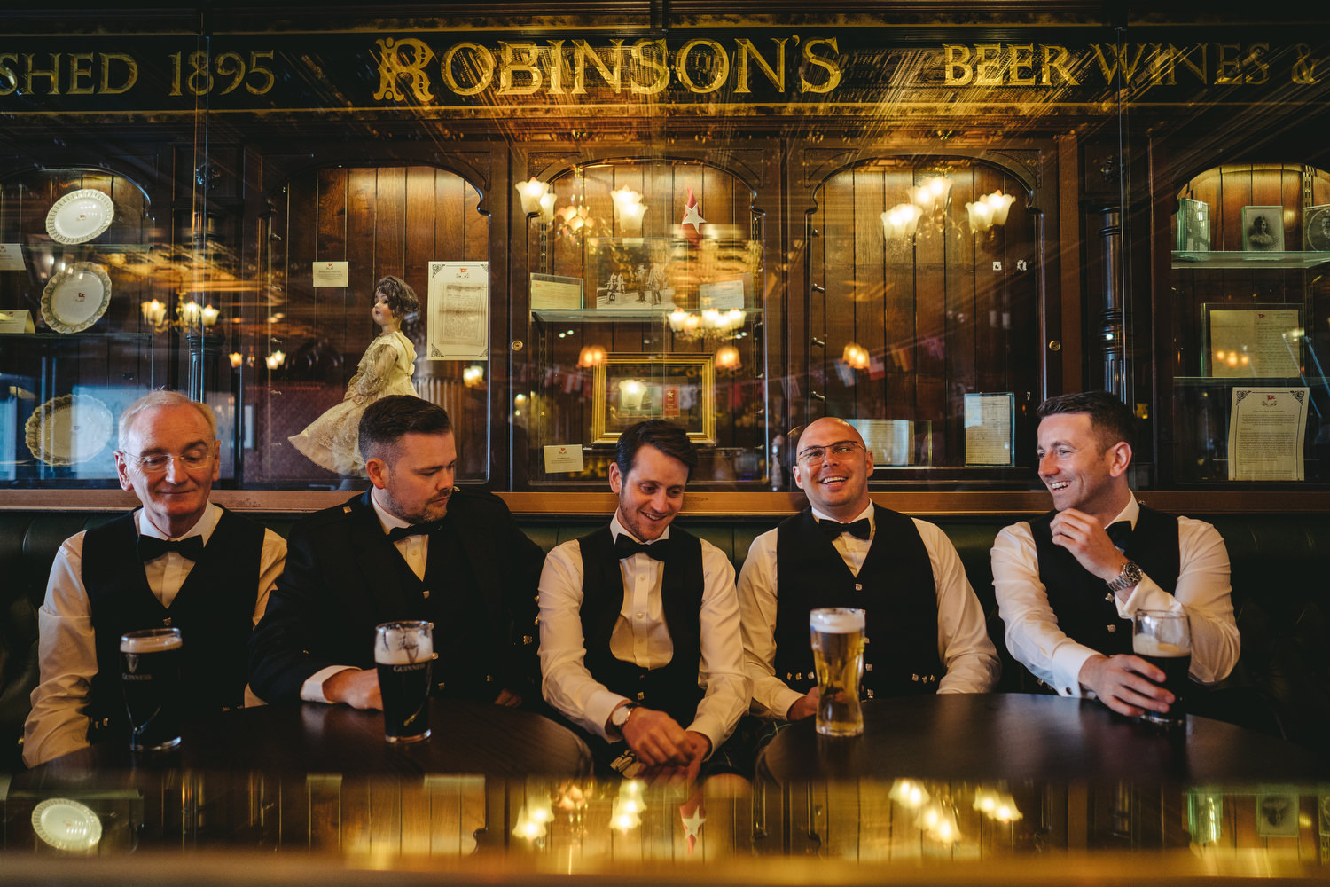 If you're an Irish wedding photographer, you have to get used to shooting in dark pubs.
