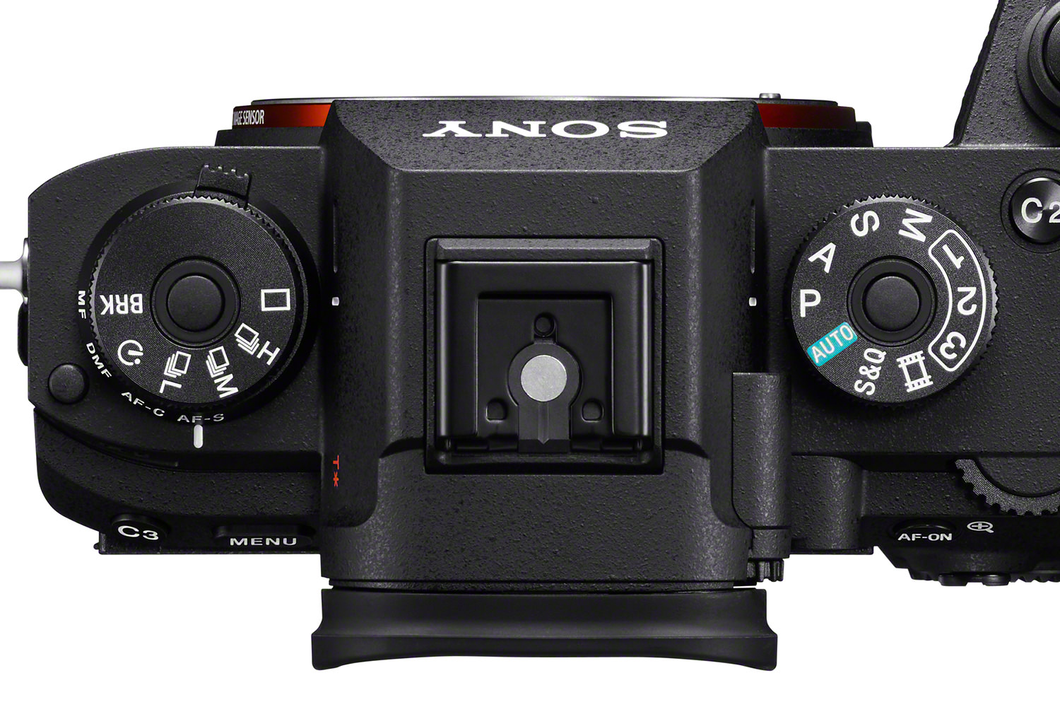 The Sony A9 has a Drive select wheel which the A7III lacks.