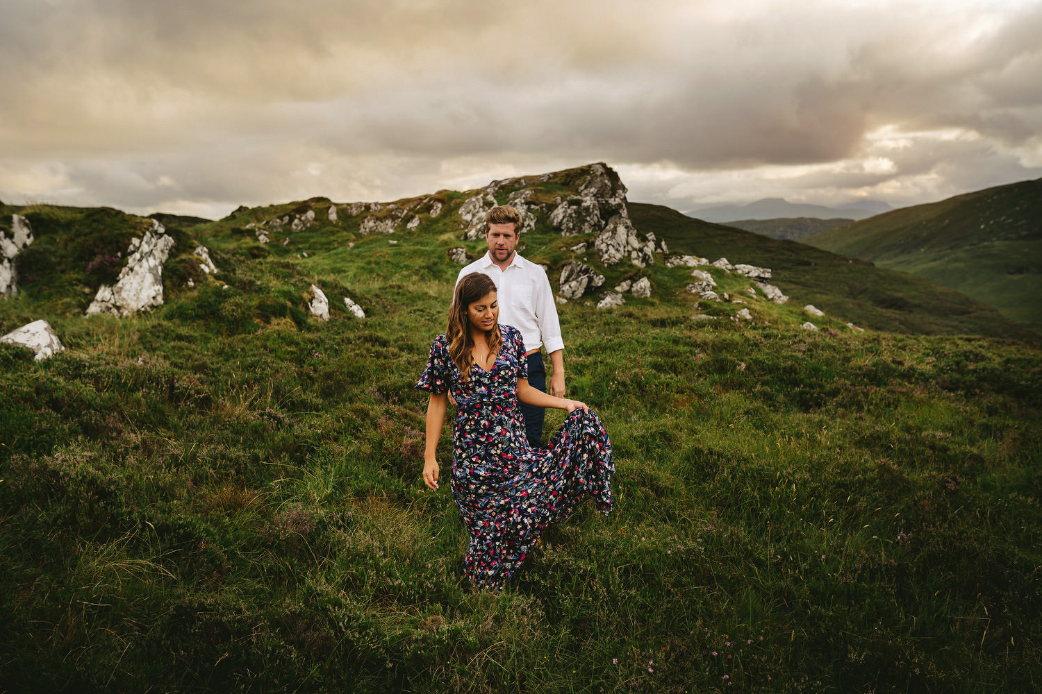 Ireland Engagement Shoot in Donegal. Deanna Smith and Declan Col. Irish American Elopement.