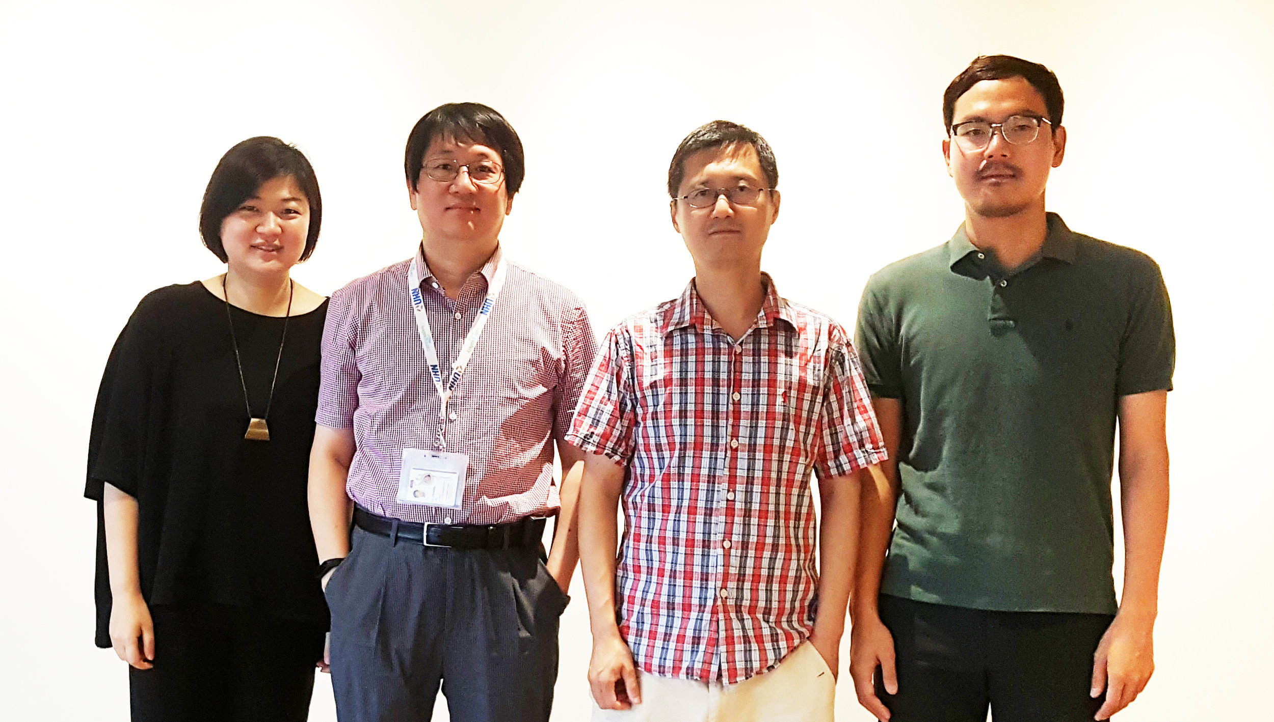 International team behind the study, from left to right, JAE-SOOK AHN, a visiting researcher in the Donnelly Centre from Chonnam National University Hwasun Hospital, Korea, DENNIS KIM, from the Princess Margaret Cancer Centre, with ZHAOLEI ZHANG and TAEHYUNG (SIMON) KIM from the Donnelly Centre.