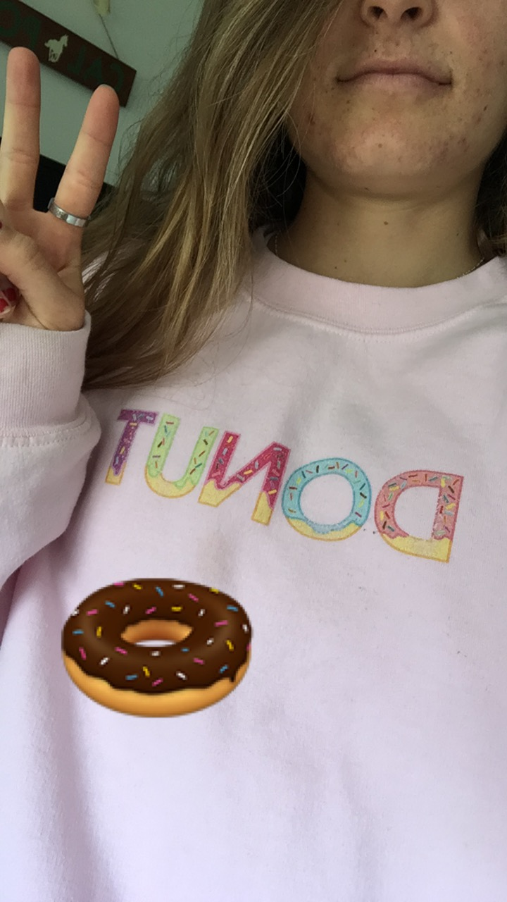 also, this is one of 4 donut-related articles of clothing I own. just sayin'.