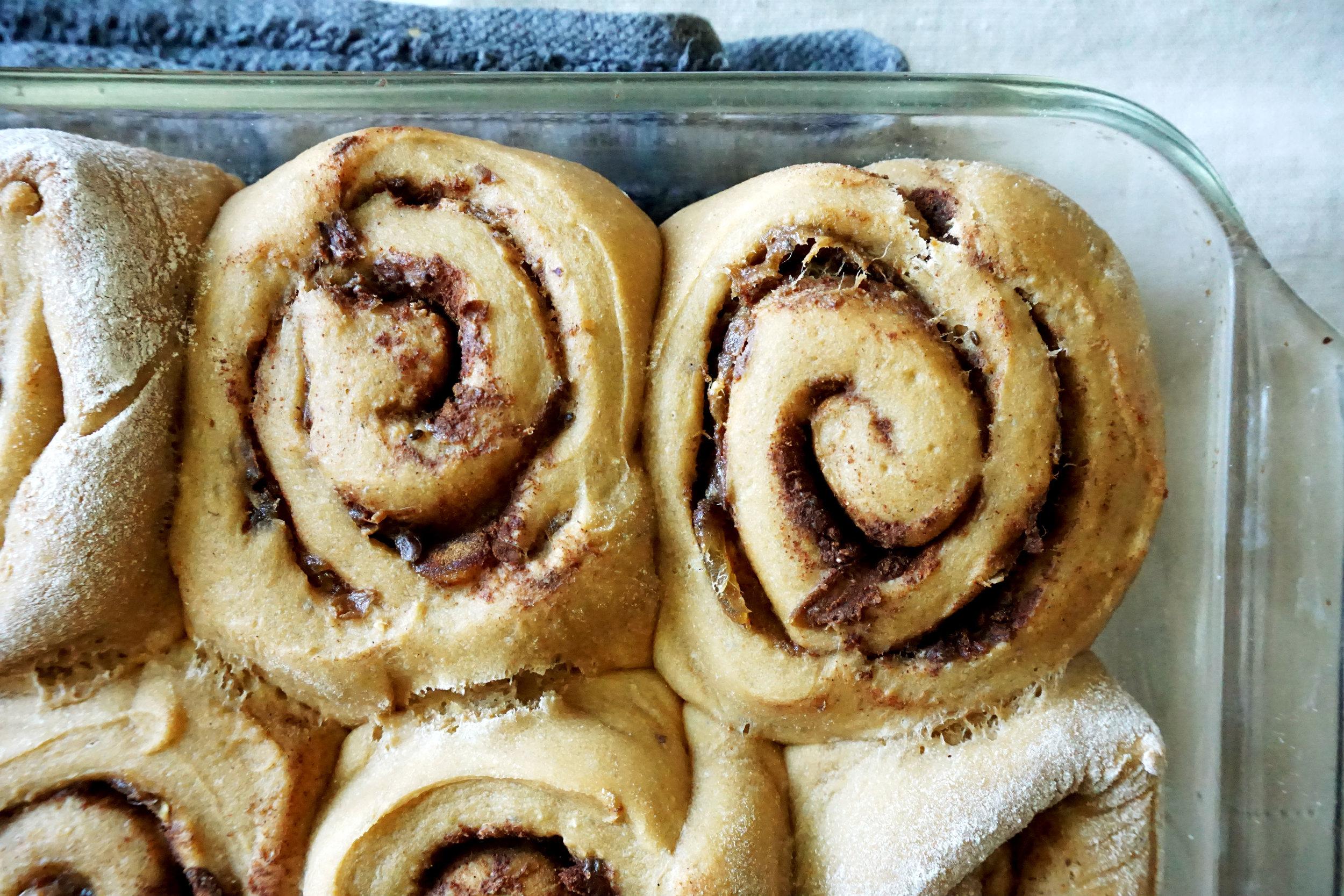 cinnamon rolls done close.jpg