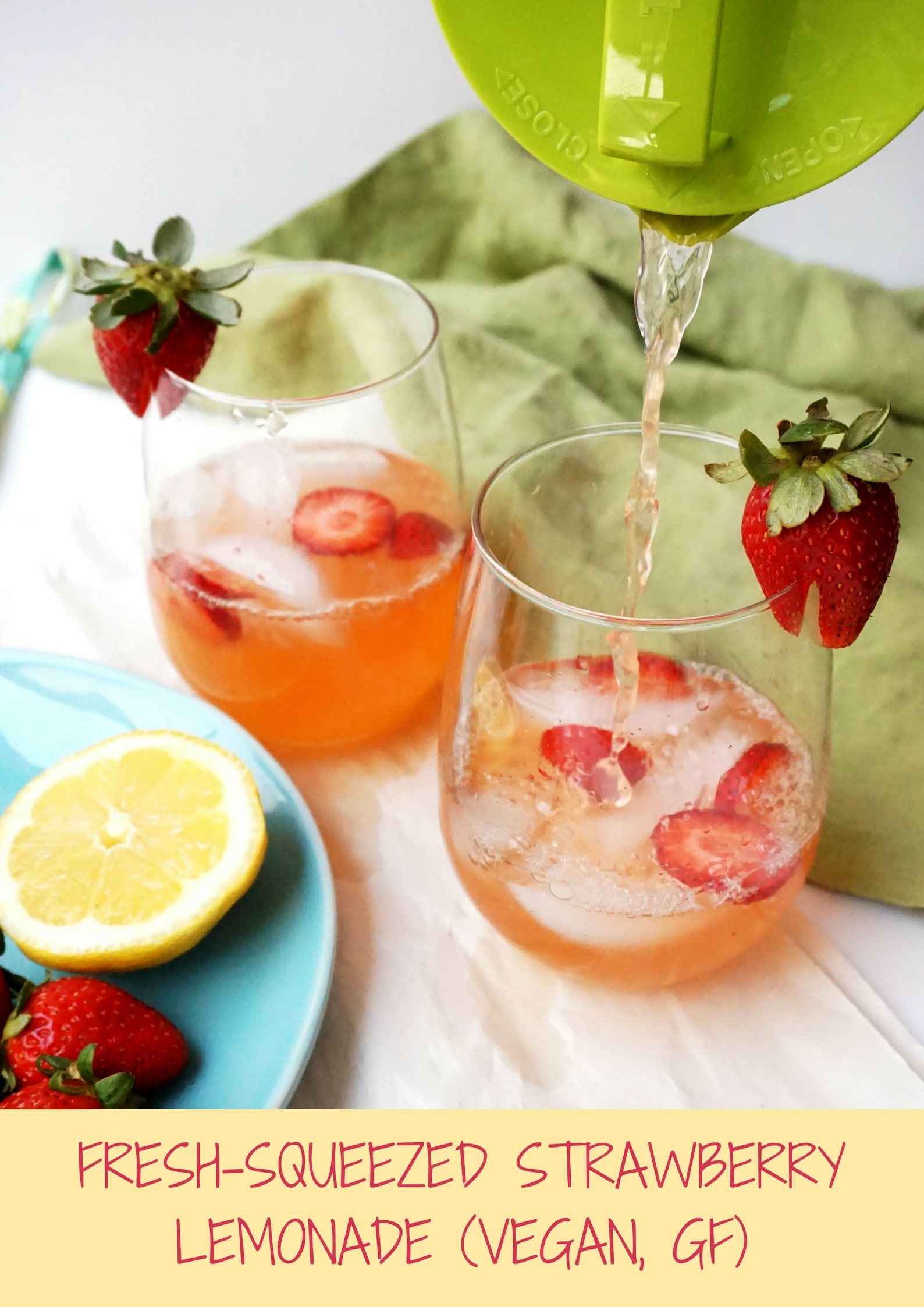 Fresh-Squeezed Strawberry Lemonade (Vegan, GF)