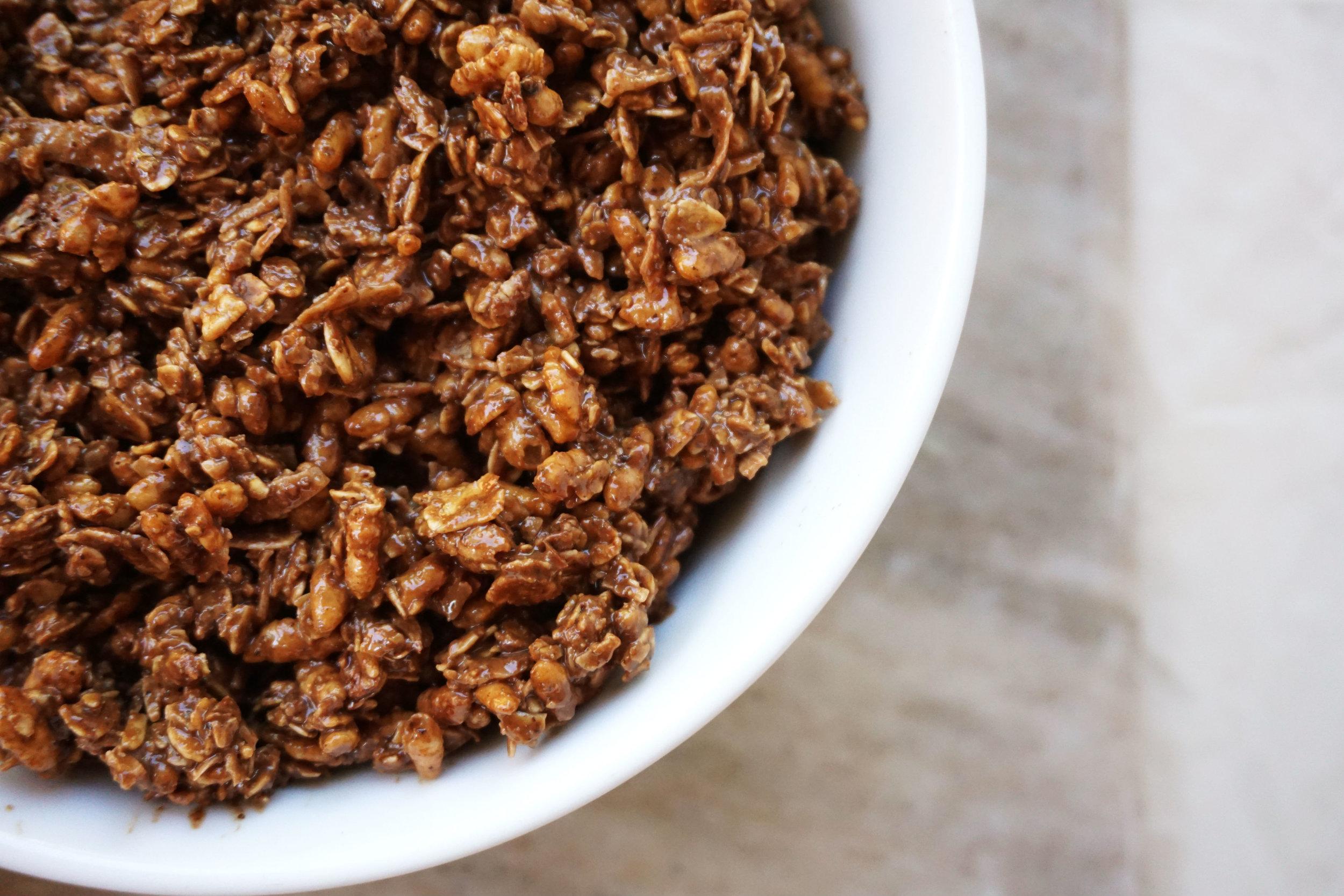 Chocolate-Chunk Coconut Granola (Vegan, GF)
