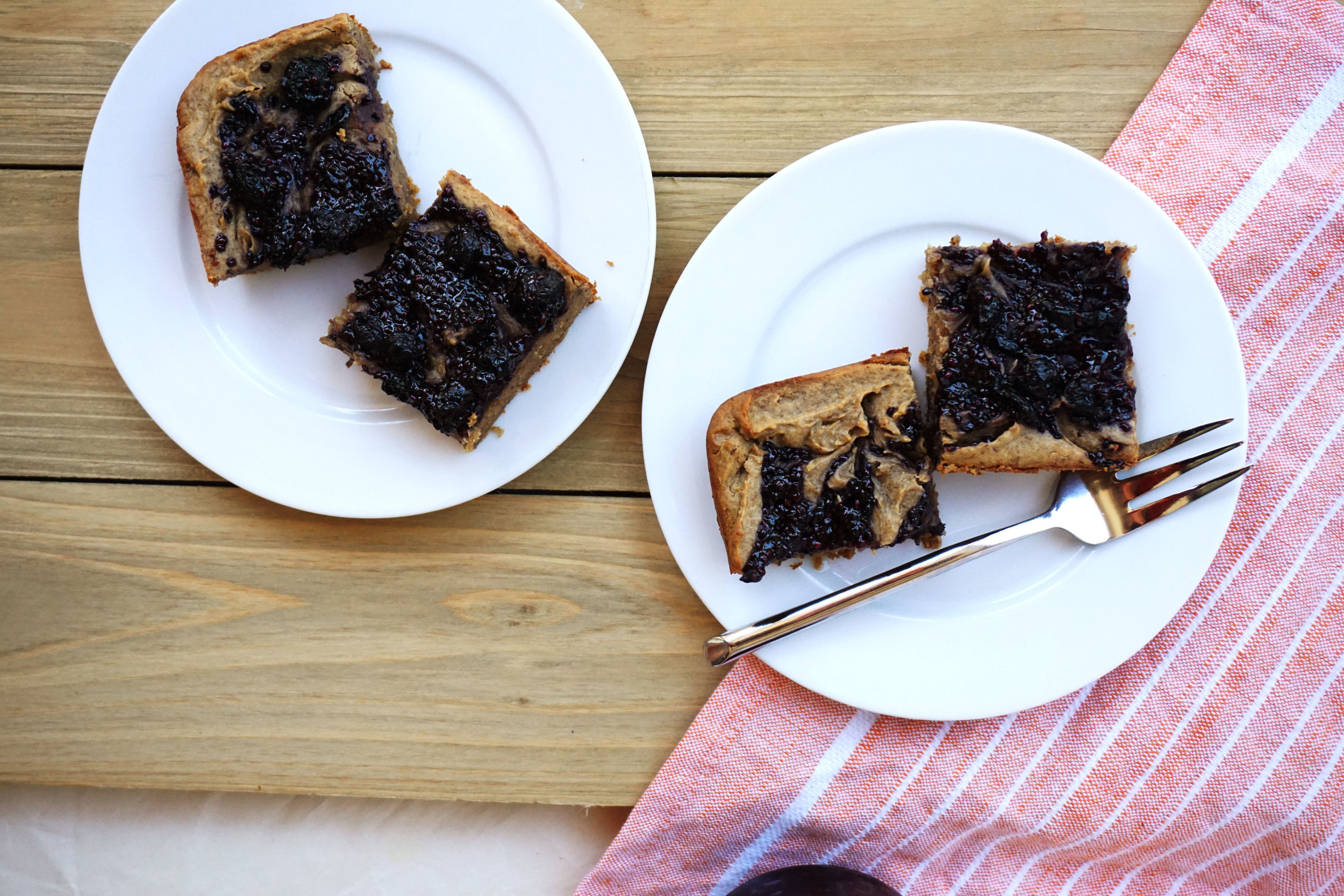 Blueberry Jam Breakfast Blondies (GF)