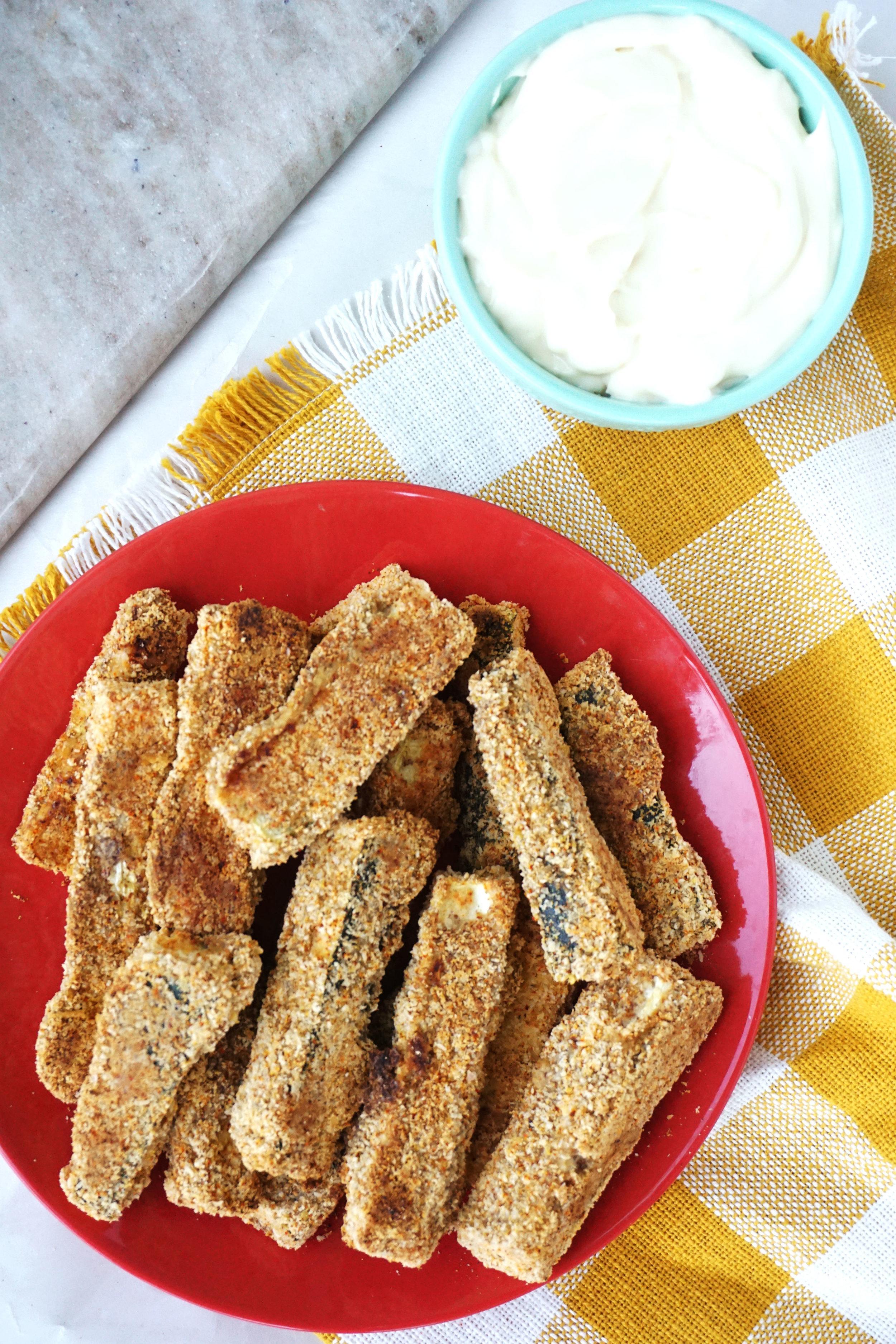 Crispy Baked Zucchini Fries (Vegan, GF, Paleo)