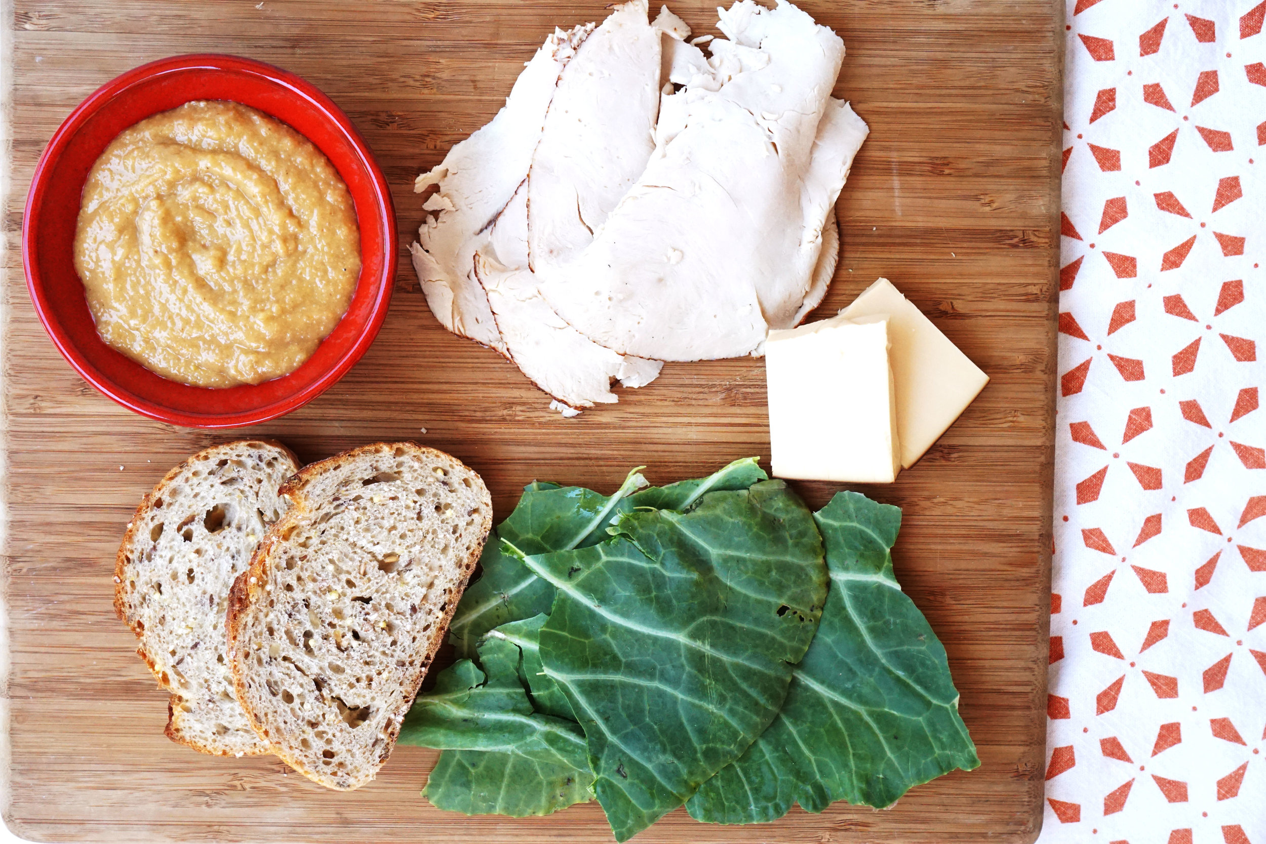 Grilled Turkey, Gouda, and Greens Sandwich