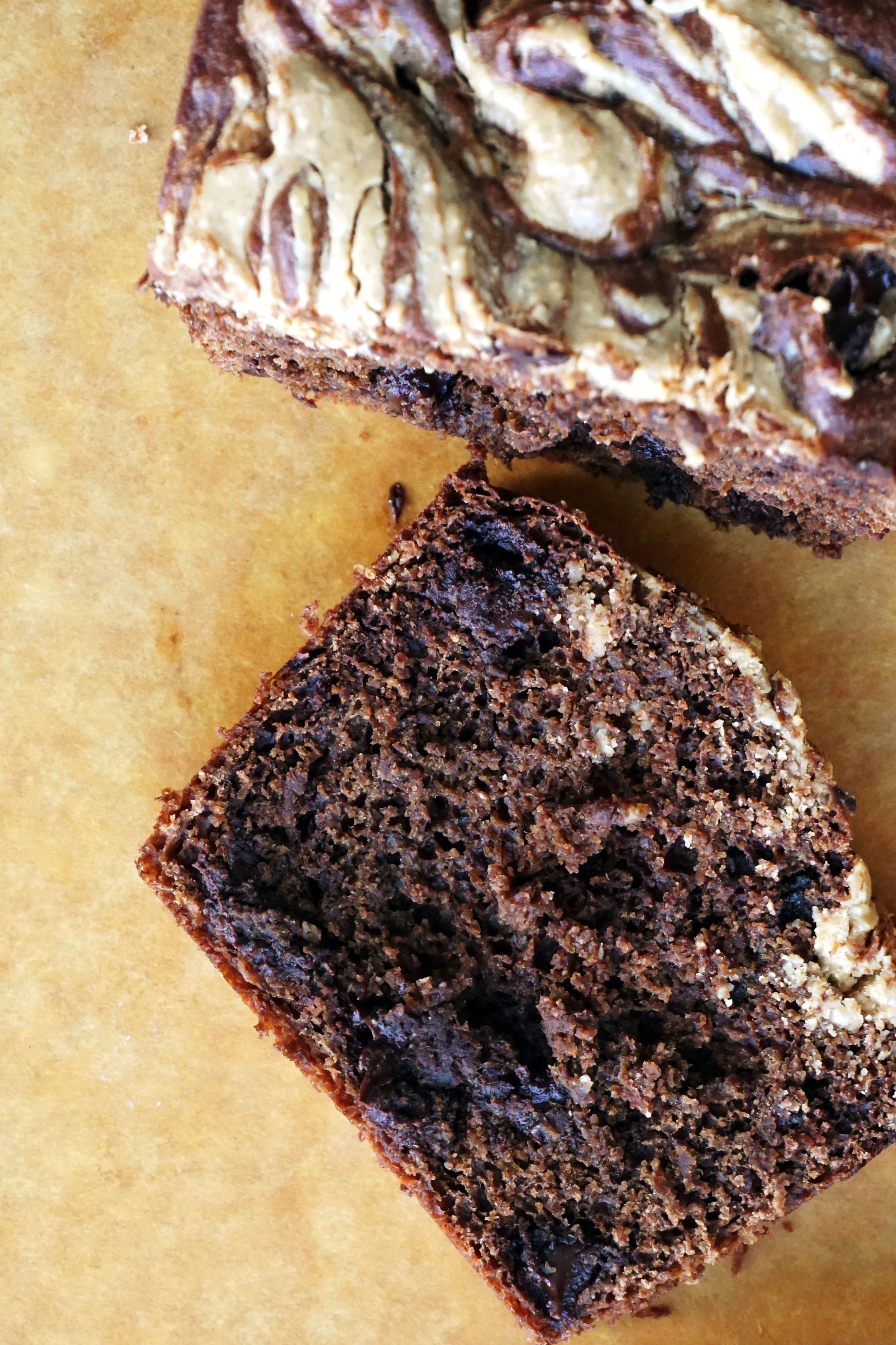 Peanut Butter Swirl Chocolate Banana Bread (GF, Grain-free)