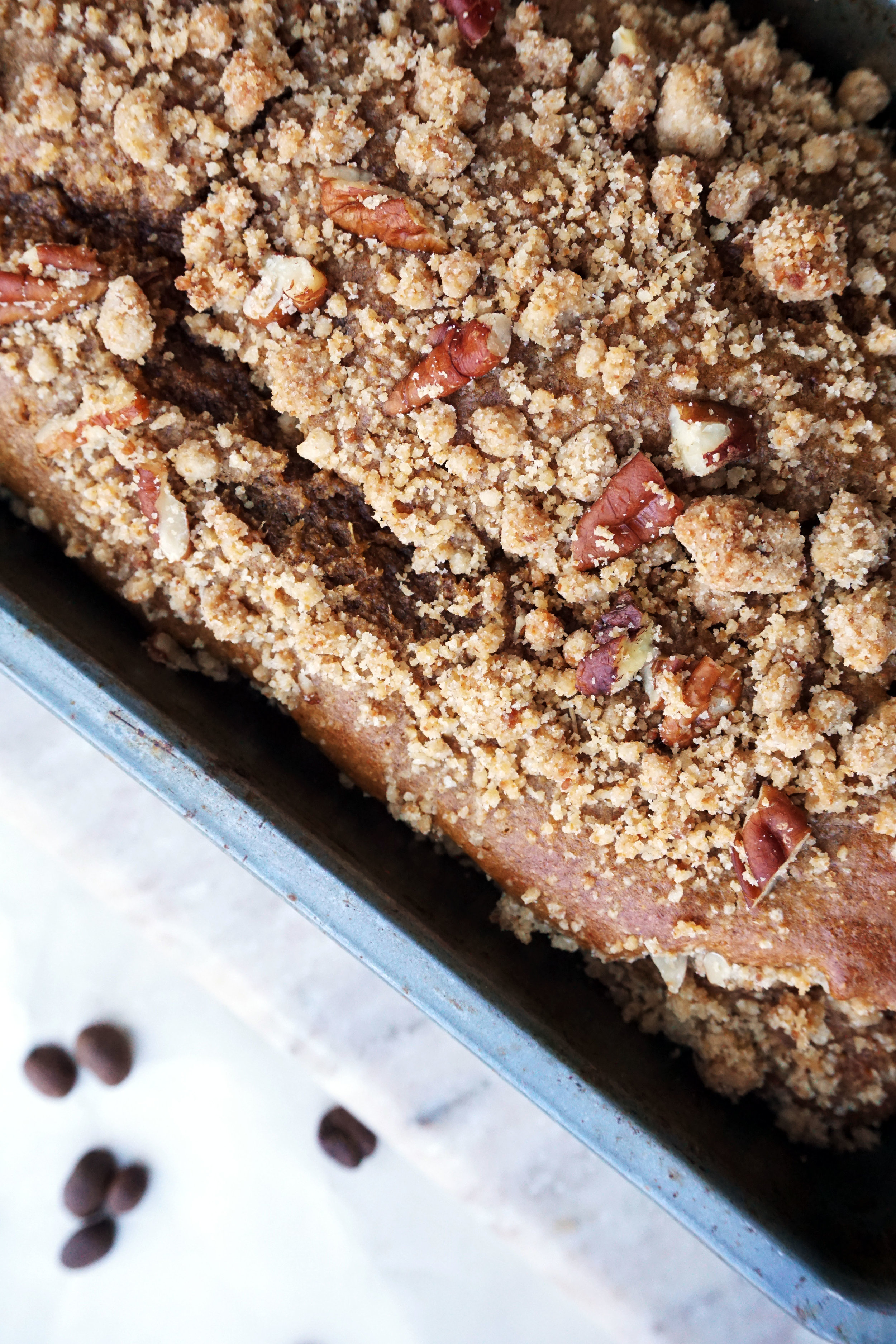 Whole-Wheat Pecan Coffee Cake (Dairy-free)