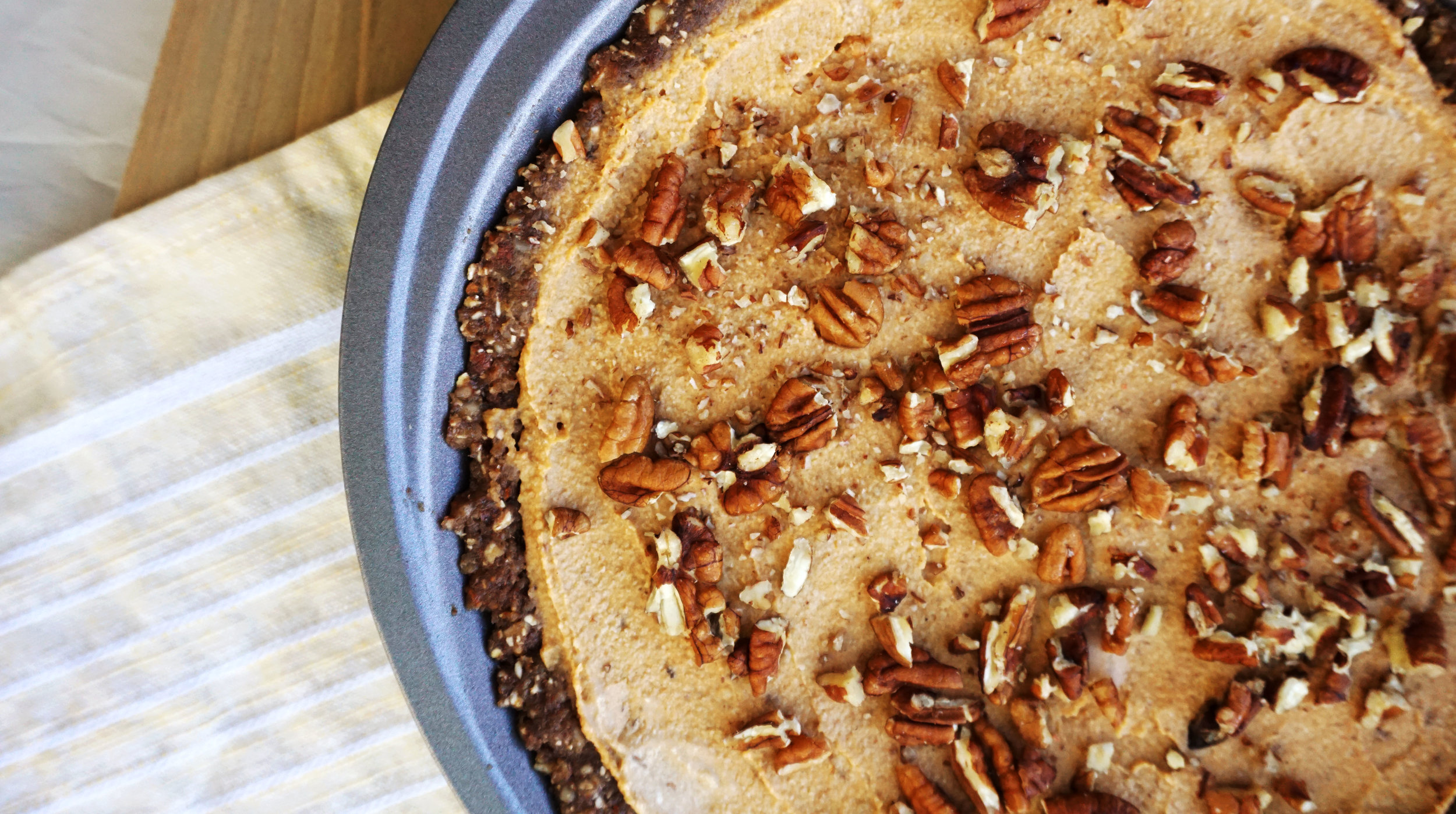 Creamy Sweet Potato Pecan Pie (Vegan, Paleo, No-Bake)