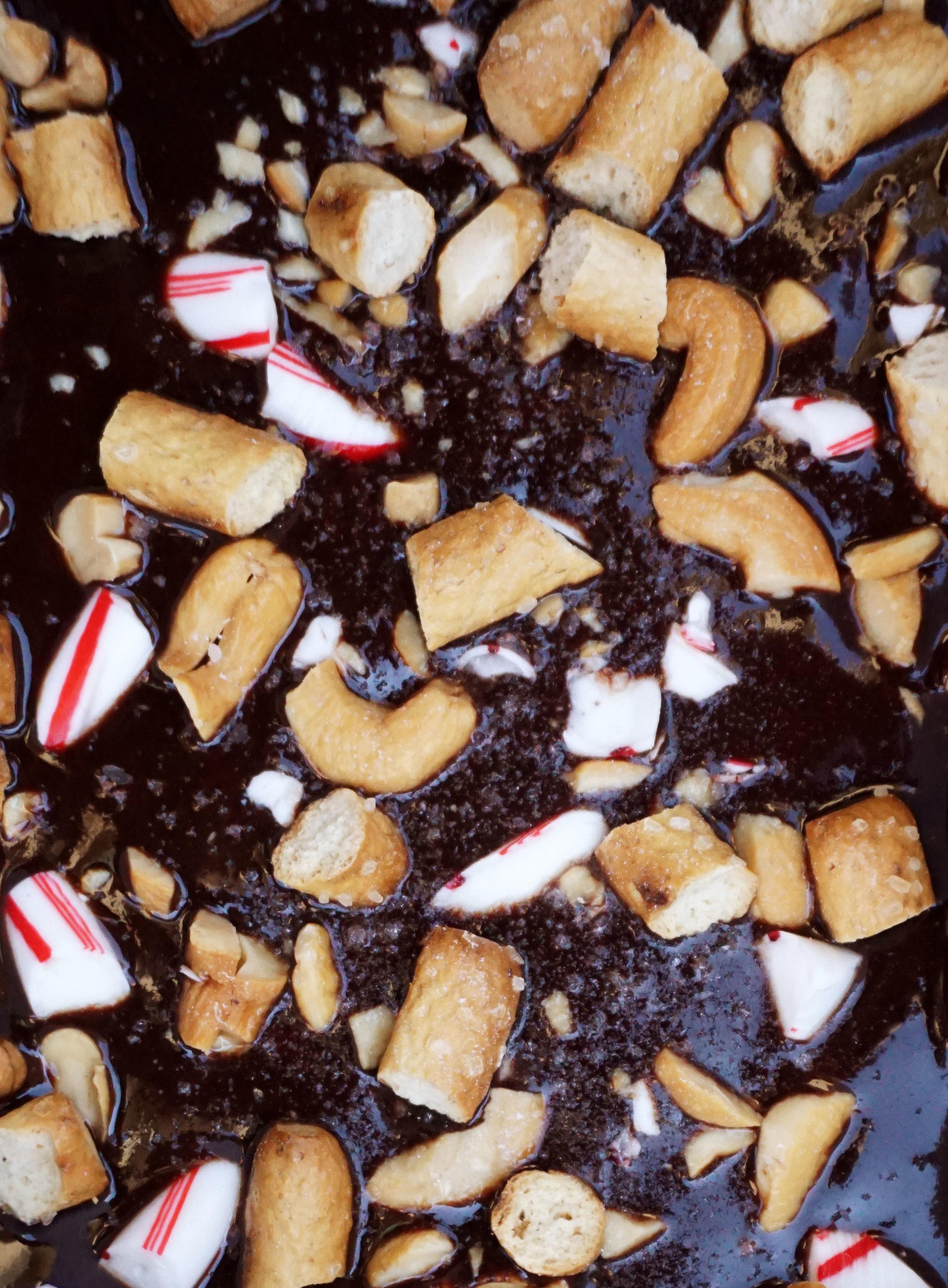 Sweet and Salty Christmas Fudge (Vegan)