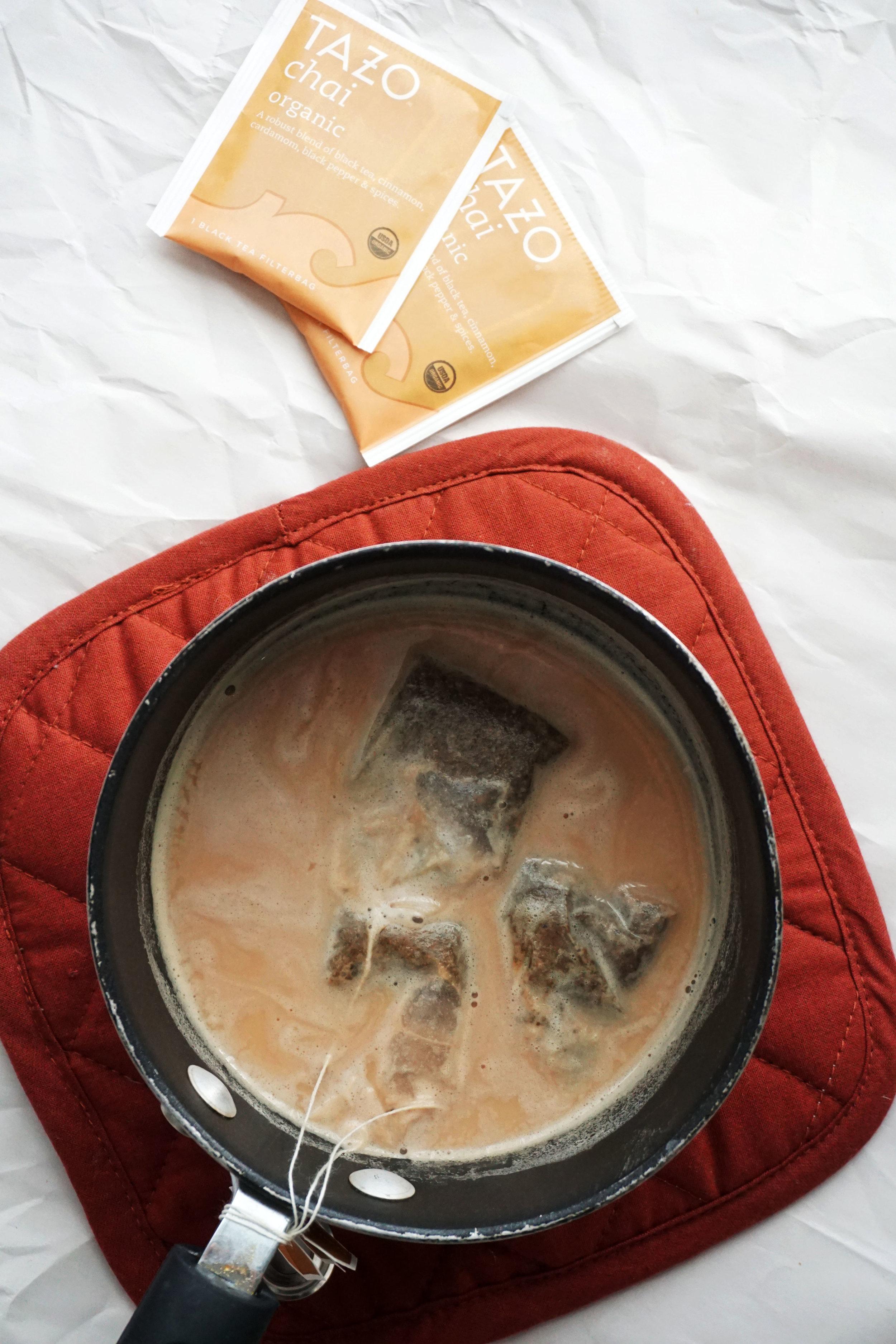 Almond Chai Latte Skillet Cinnamon Rolls